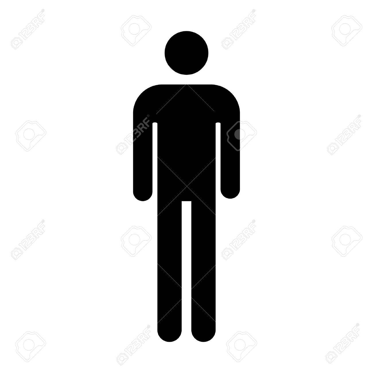male or men s bathroom restroom sign flat icon for apps and