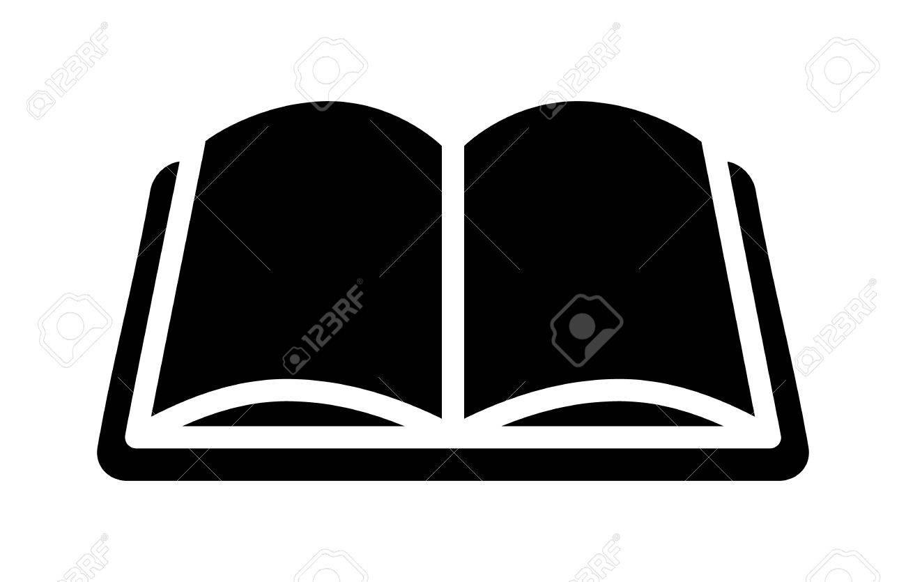 Offenes Buch Für Das Lernen Und Bildung Flach Symbol Für Anwendungen ...