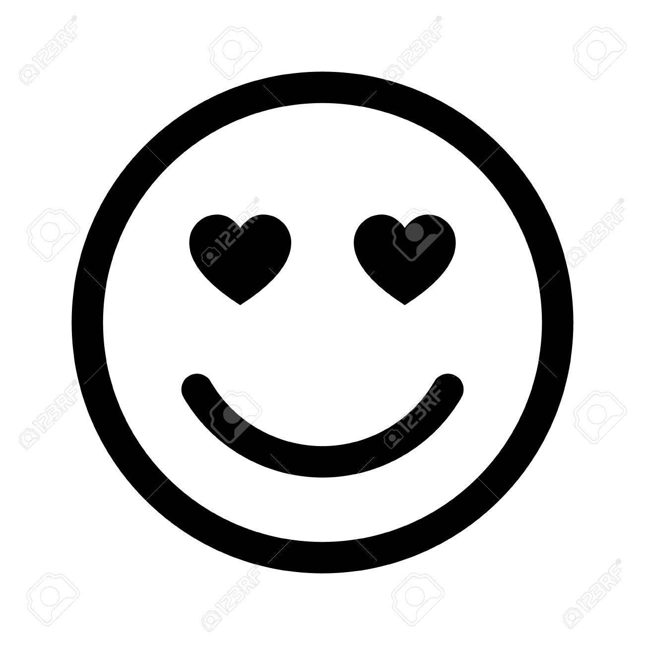 smiley face in love line art icon for apps and websites royalty free rh 123rf com vector smiley face with thumbs up vector smiley face with thumbs up