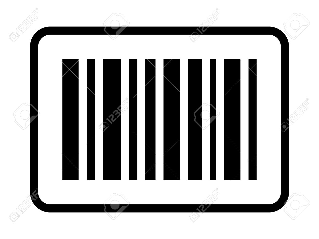 business inventory barcode bar code line art icon for apps rh 123rf com barcode clip art free barcode clipart