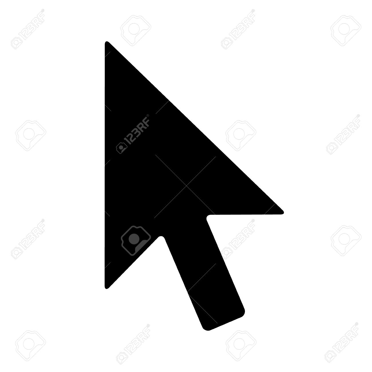 Computer mouse pointer cursor arrow flat icon for apps and websites - 57642583