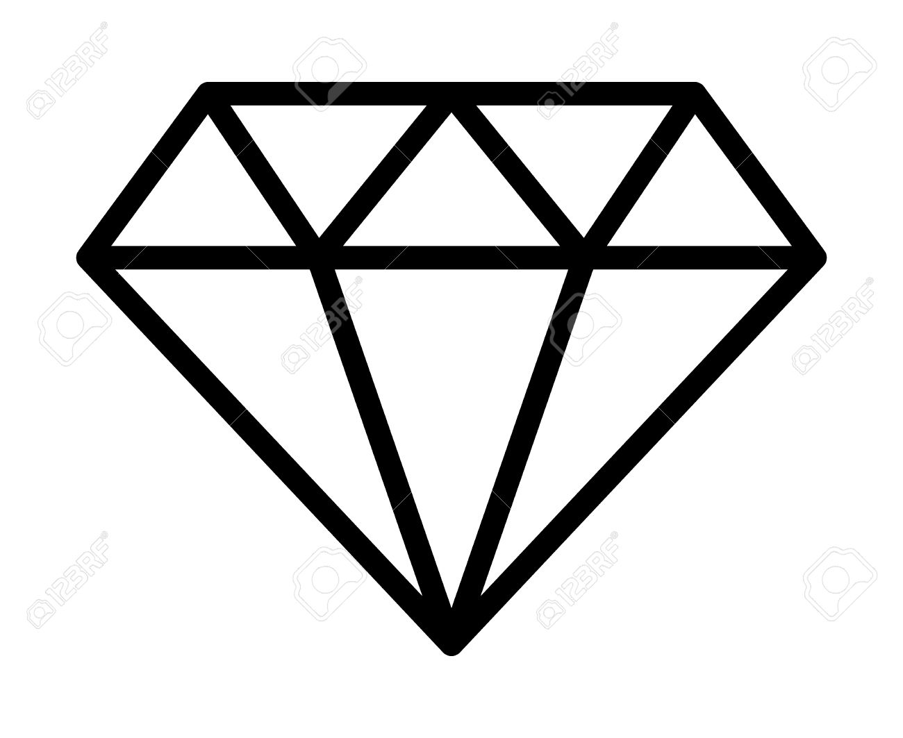 diamond jewel gemstone line art icon for apps and websites royalty rh 123rf com jewelry clip art free download jewelry clip art images