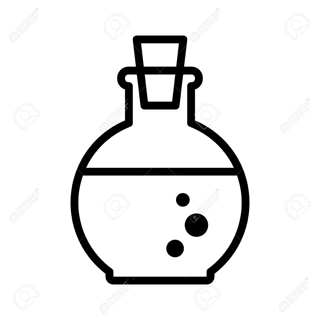 health or magic mana potion bottle line art icon for games and rh 123rf com