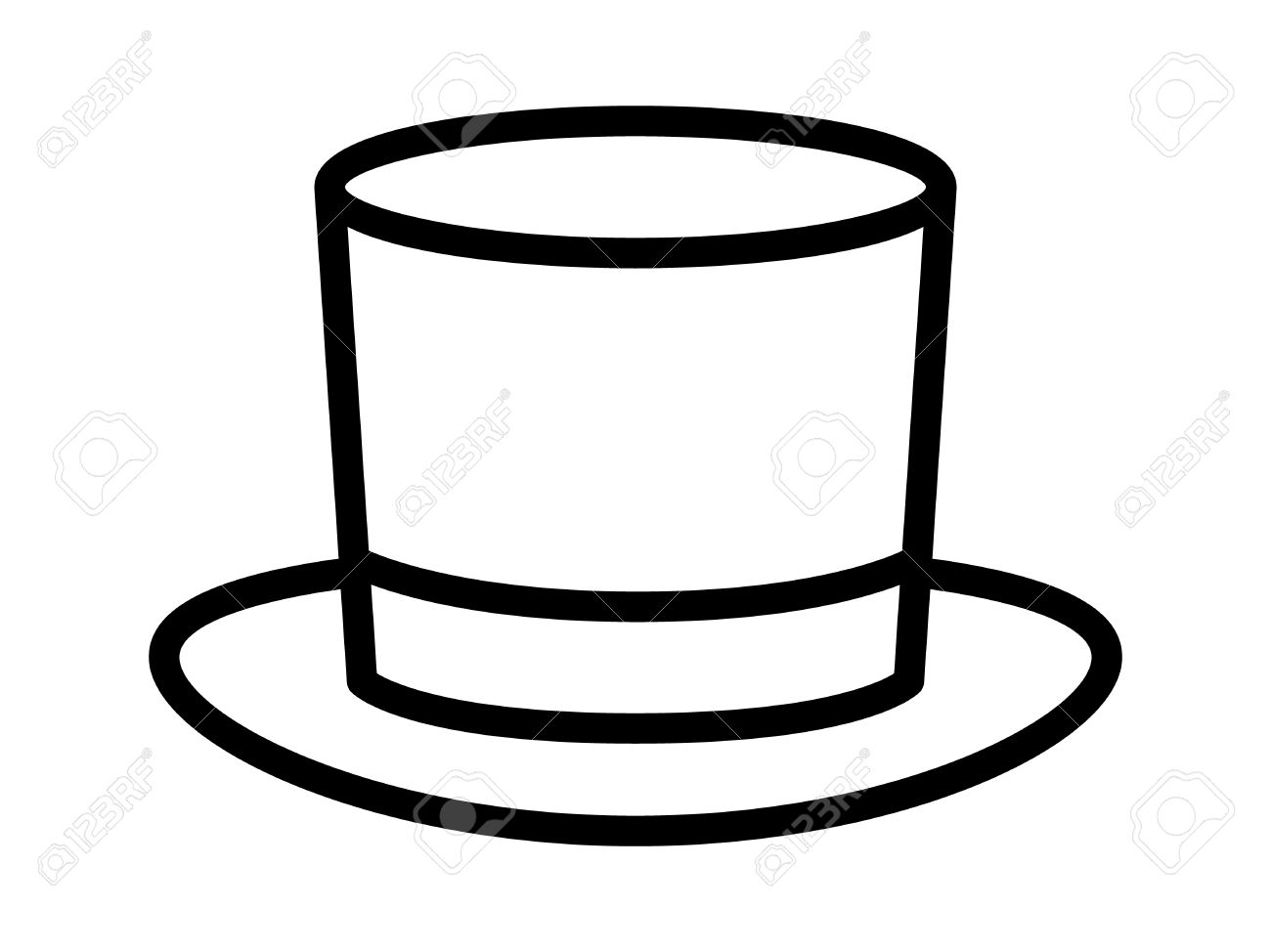 c345de44f3e613 Magic top hat or high hat line art icon for apps and websites Stock Vector -
