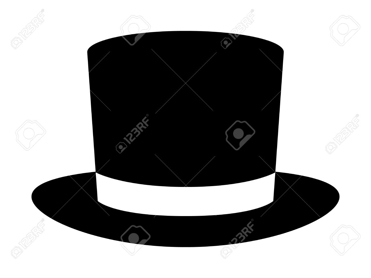 1aab87f3296a8f Magic top hat or high hat flat icon for apps and websites Stock Vector -  58321357
