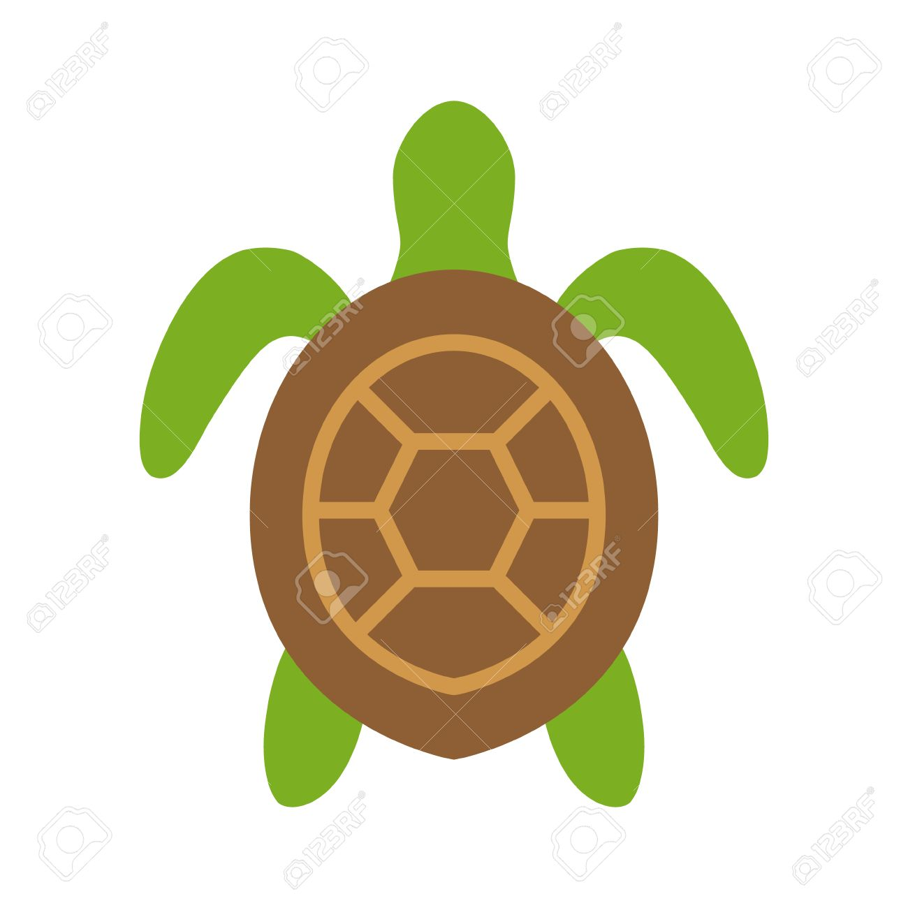 sea turtle marine turtle top view flat color icon for nature rh 123rf com Black and White Sea Turtle Sea Turtle Designs
