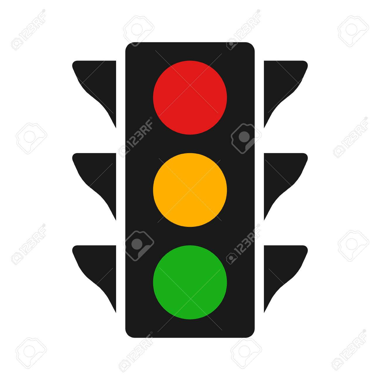 Traffic Control Light / Signal With Red, Yellow And Green Color ... for Traffic Light Red Icon  545xkb