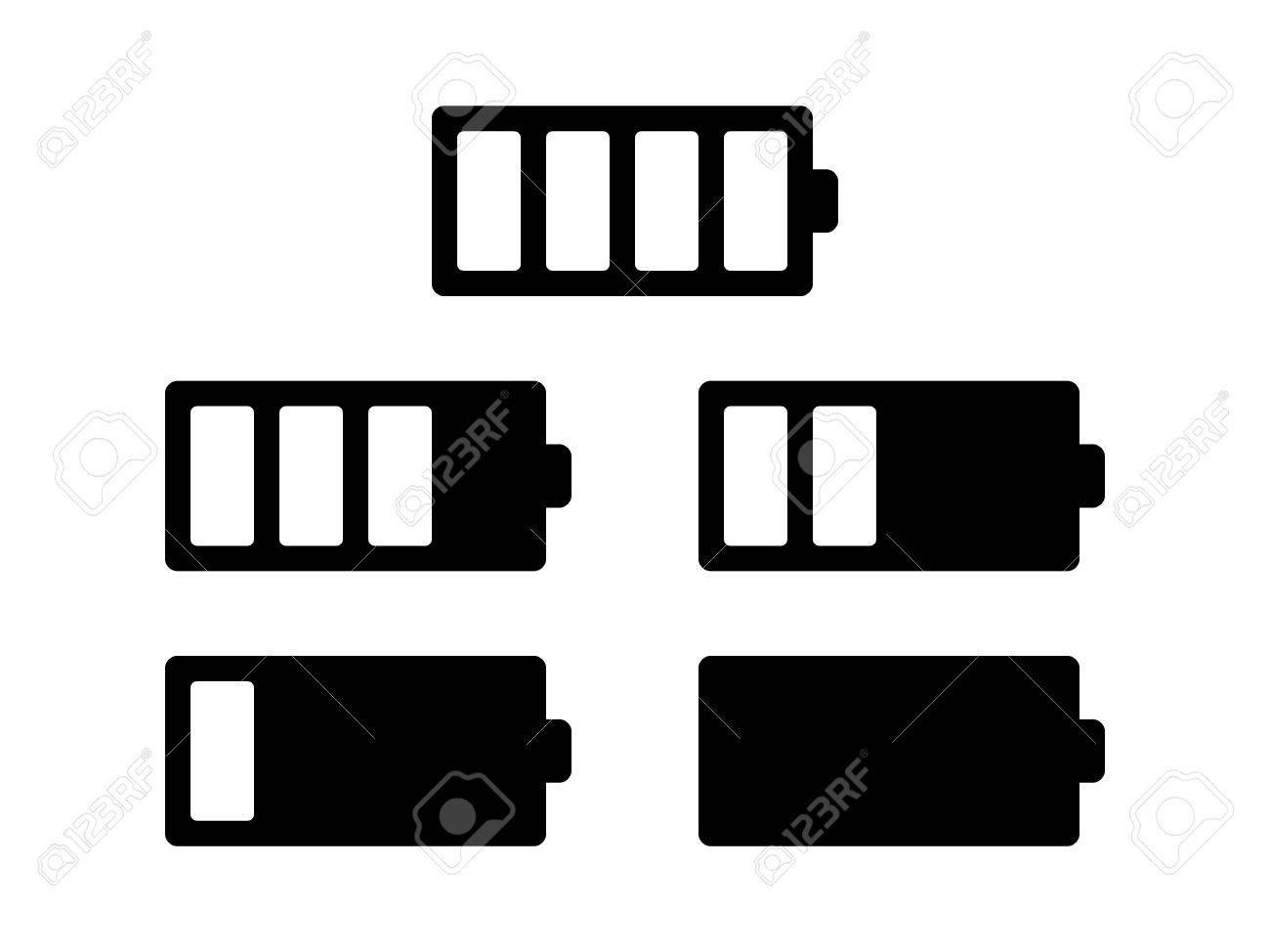 Batteriebetrieb Oder Ladezustand Flach Symbol Für Anwendungen Und ...