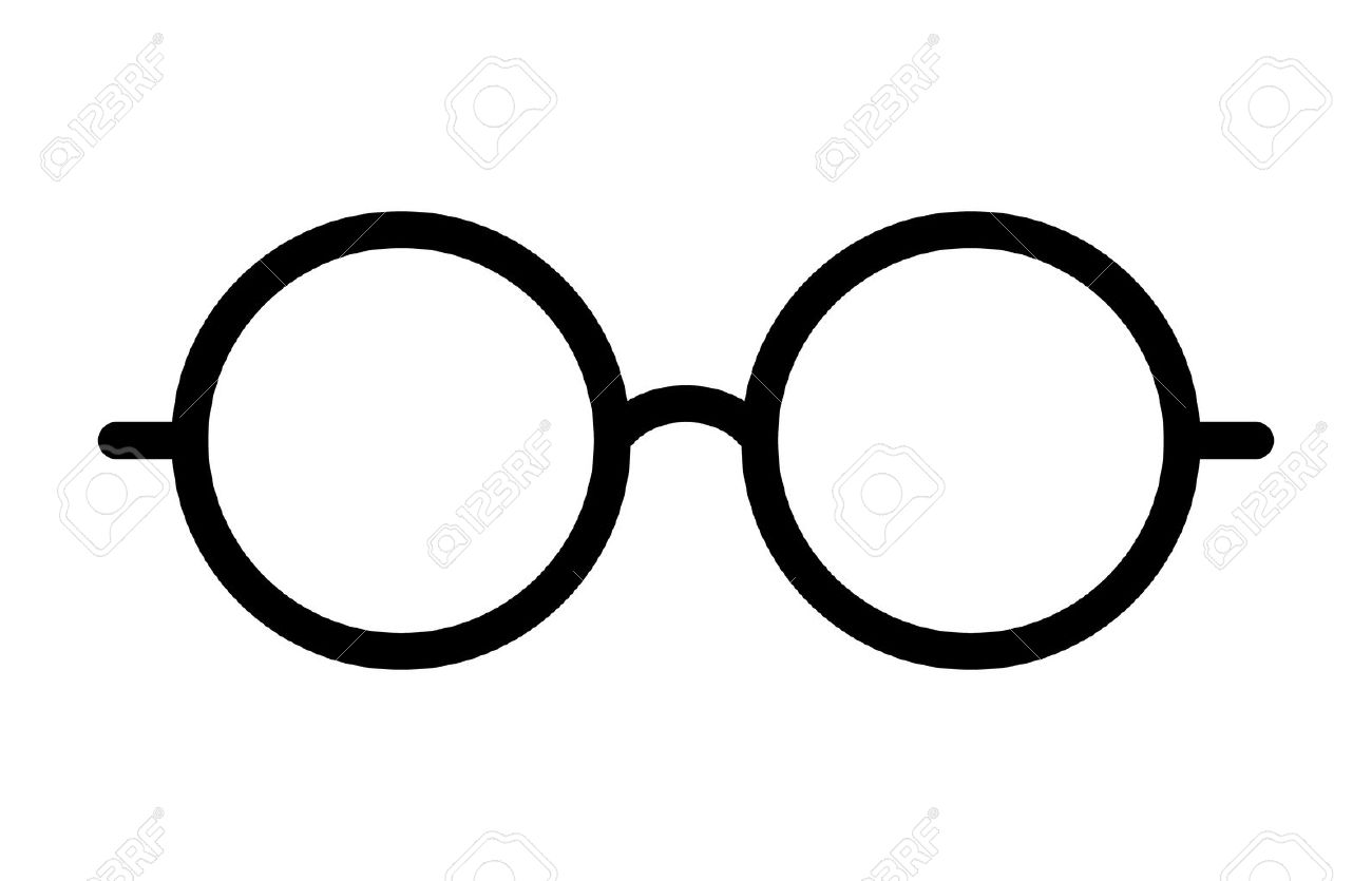 Round glasses or reading eyeglasses line art icon for apps and websites - 58944827