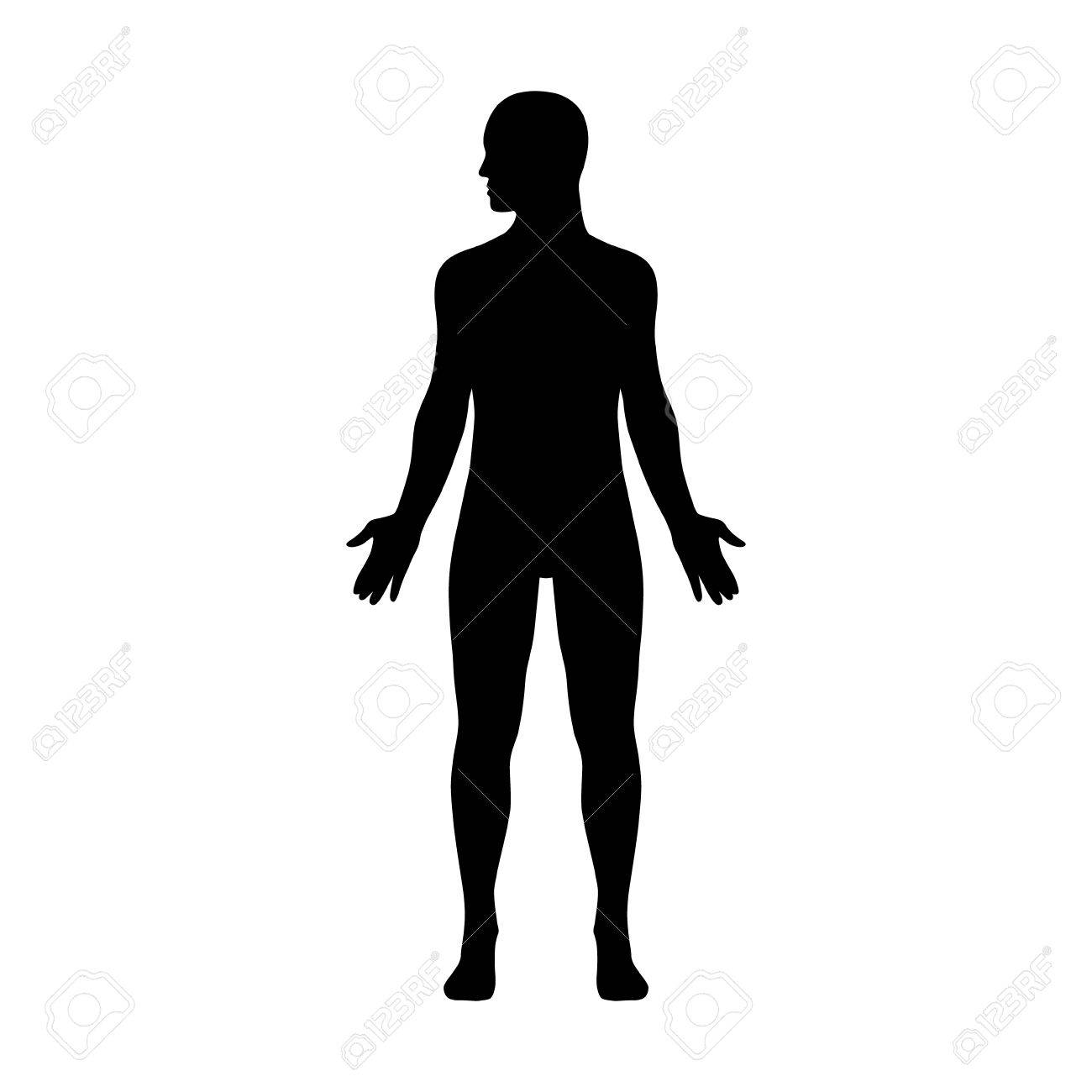 Male human body with head turned to side flat icon for apps and websites - 58944851
