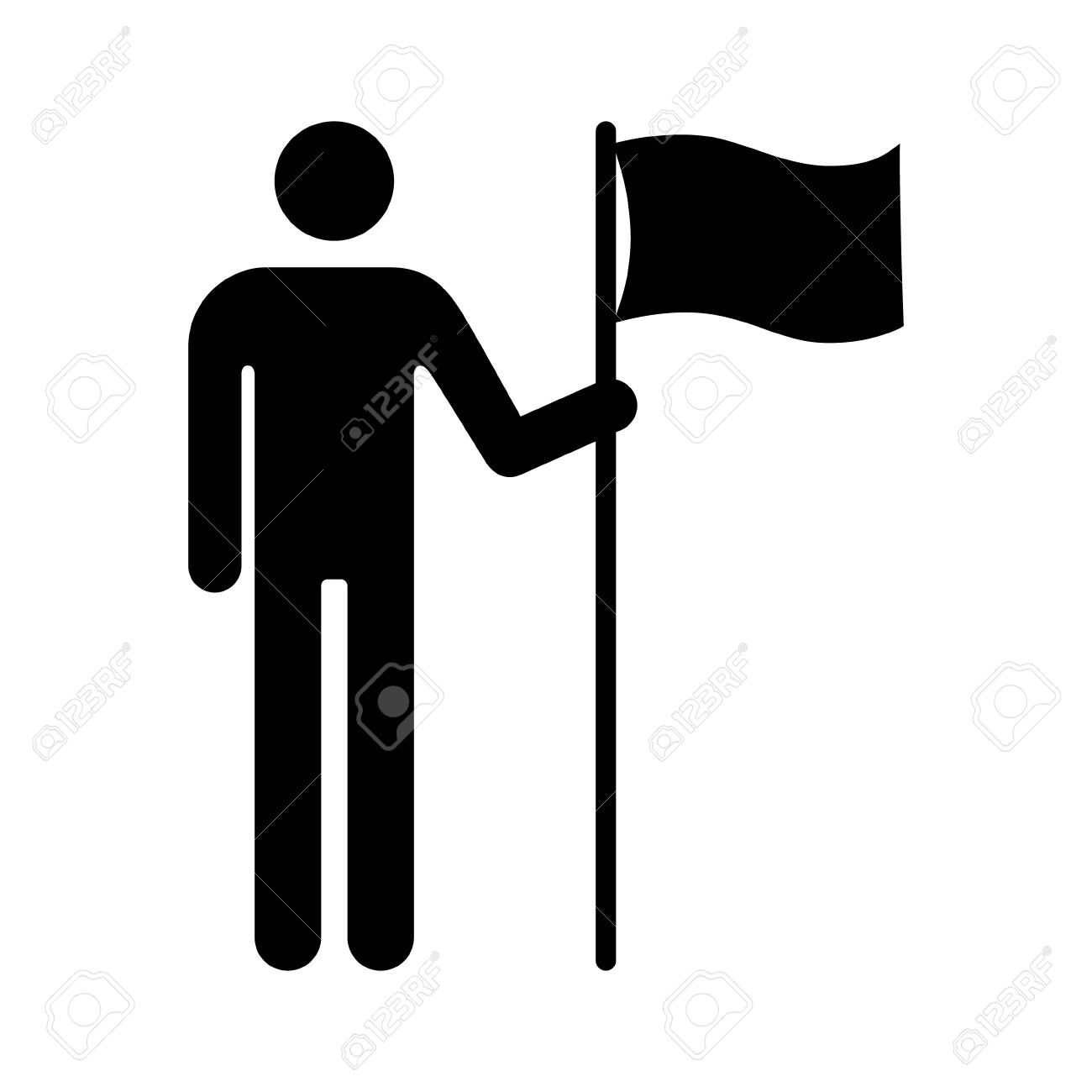 White apron homebase - Homebase Man Holding Flag Or Person Holding Flag Flat Icon For Apps And Websites