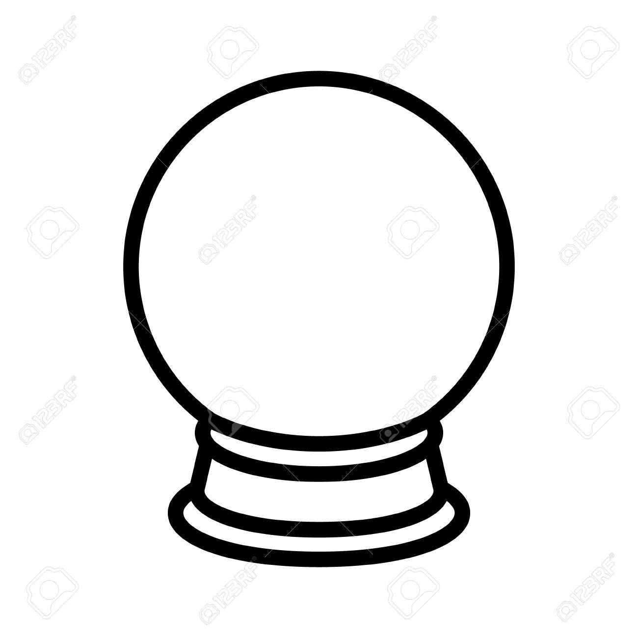 crystal ball of fortune telling line art icon for apps and websites rh 123rf com free clipart crystal ball free crystal ball images clip art