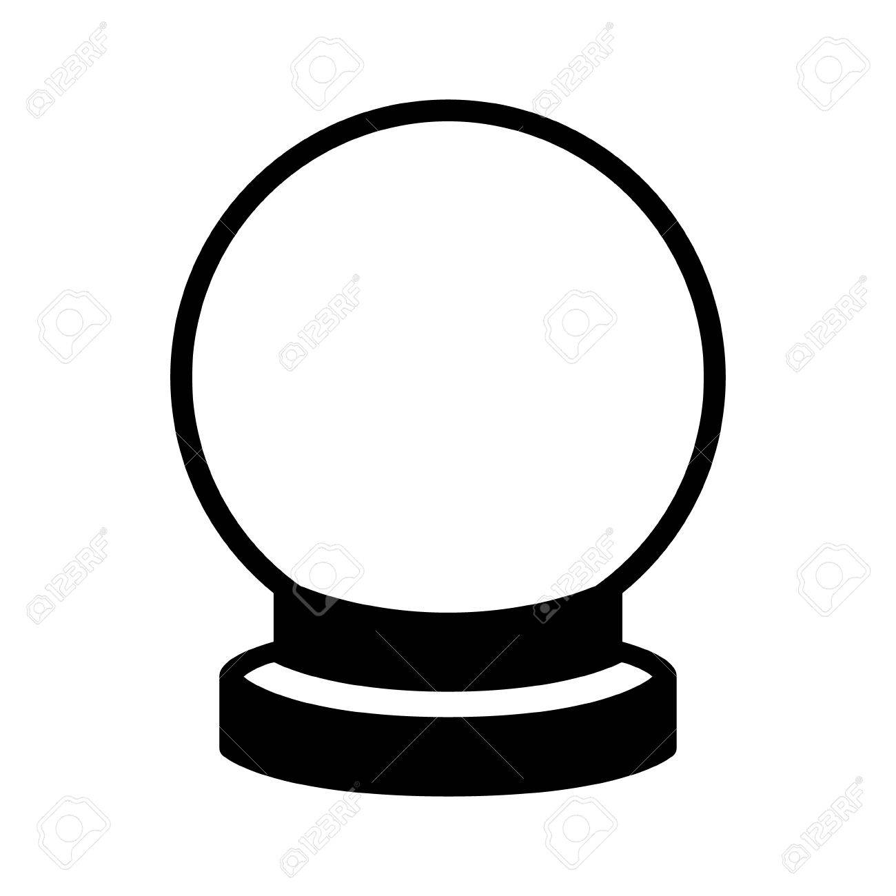 crystal ball of fortune telling flat icon for apps and websites rh 123rf com crystal ball clipart black and white magic crystal ball clipart