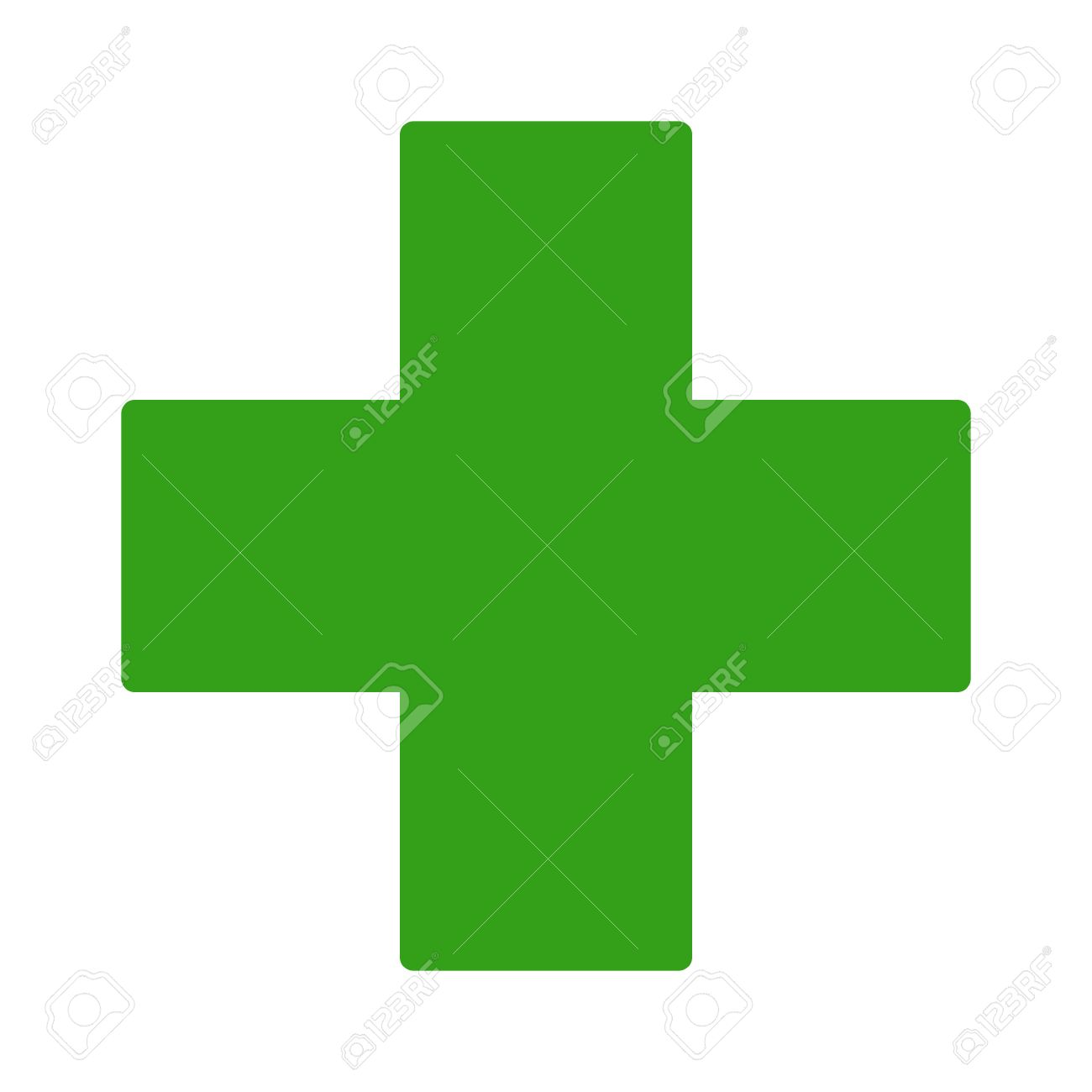 European green cross pharmacy store sign flat icon for apps and websites - 62747857