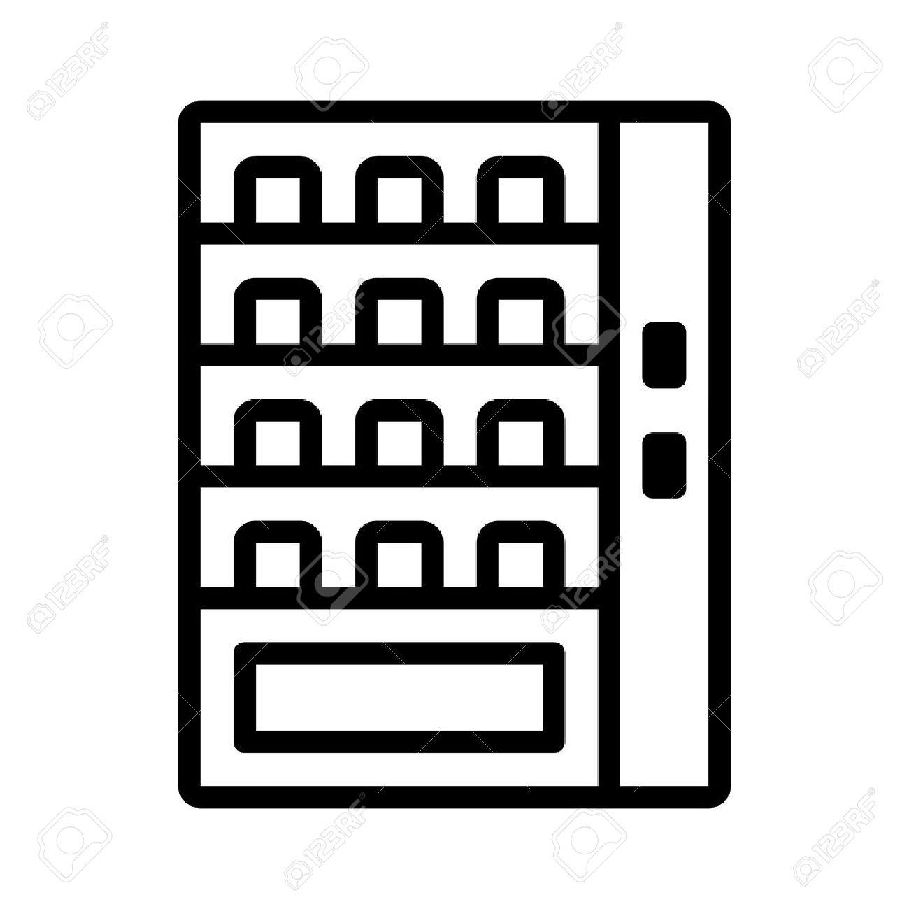 Automatische Verkaufsmaschine Line Art Symbol Für Anwendungen Und ...