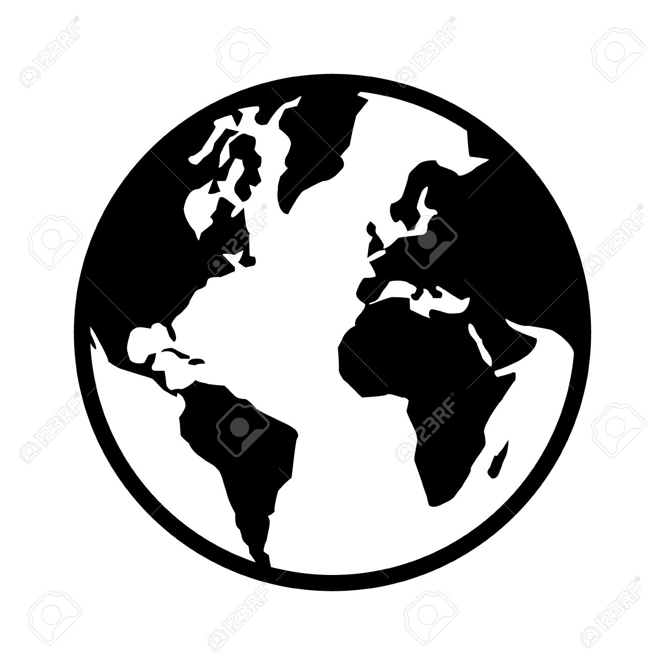 World map globe or planet earth world map line art icon for apps world map globe or planet earth world map line art icon for apps and websites gumiabroncs Gallery