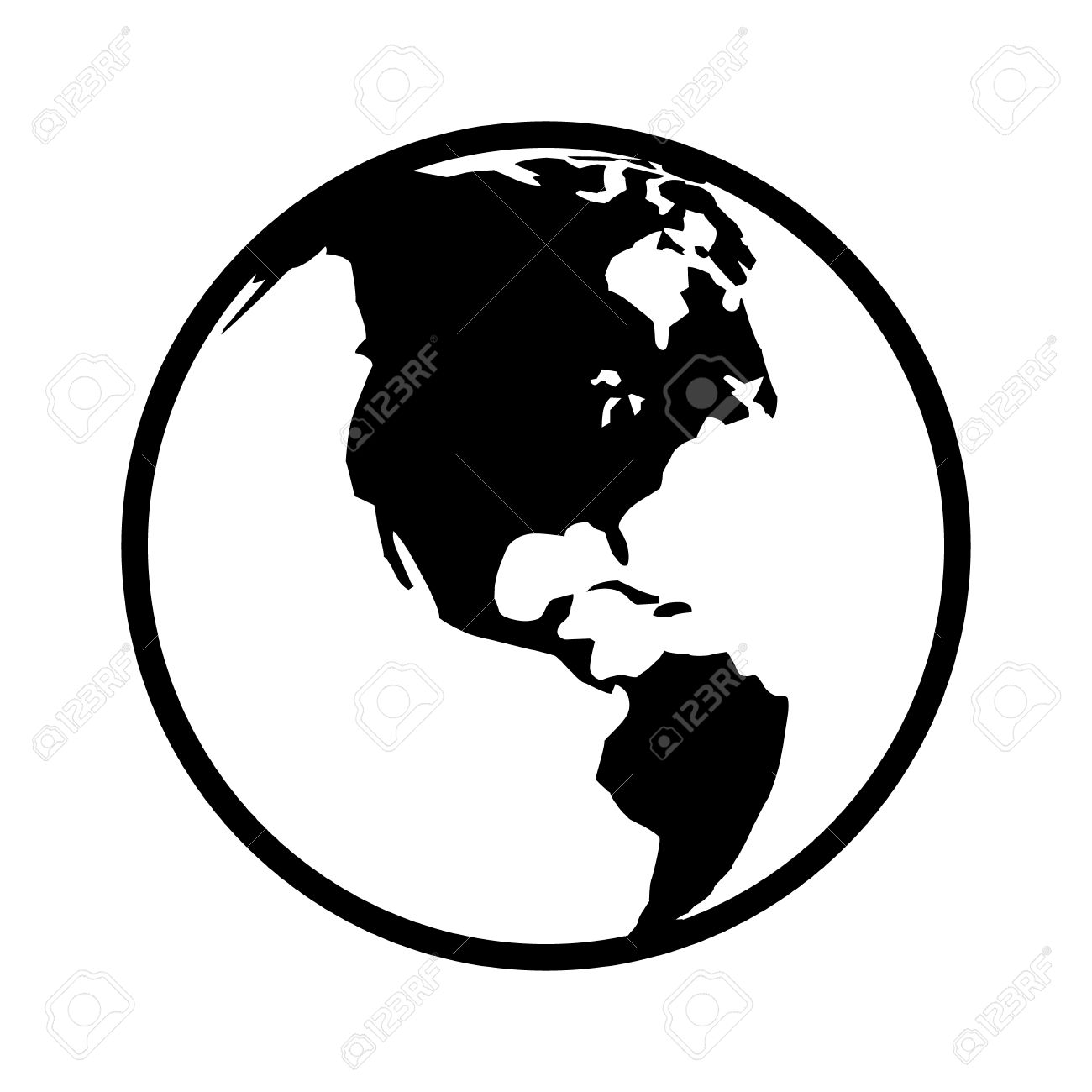 World Map Globe Or Planet Earth World Map Line Art Icon For Apps