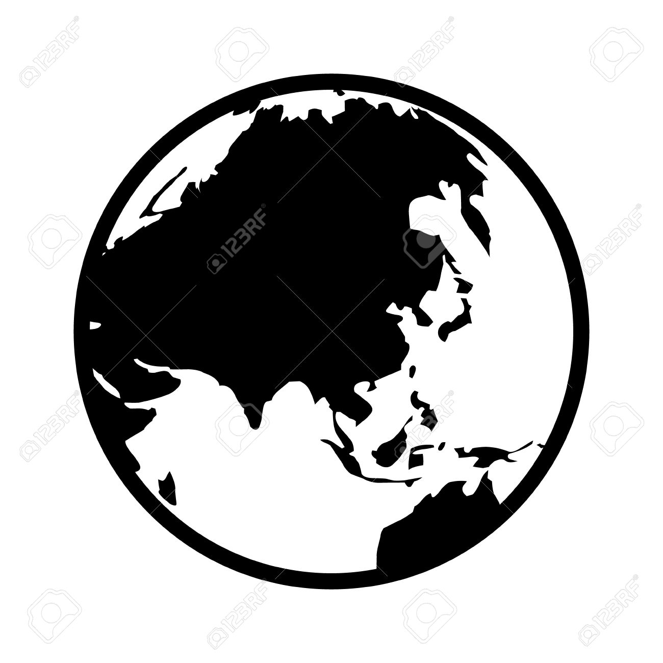 World map globe or planet earth showing asia line art icon for world map globe or planet earth showing asia line art icon for apps and websites stock gumiabroncs Gallery