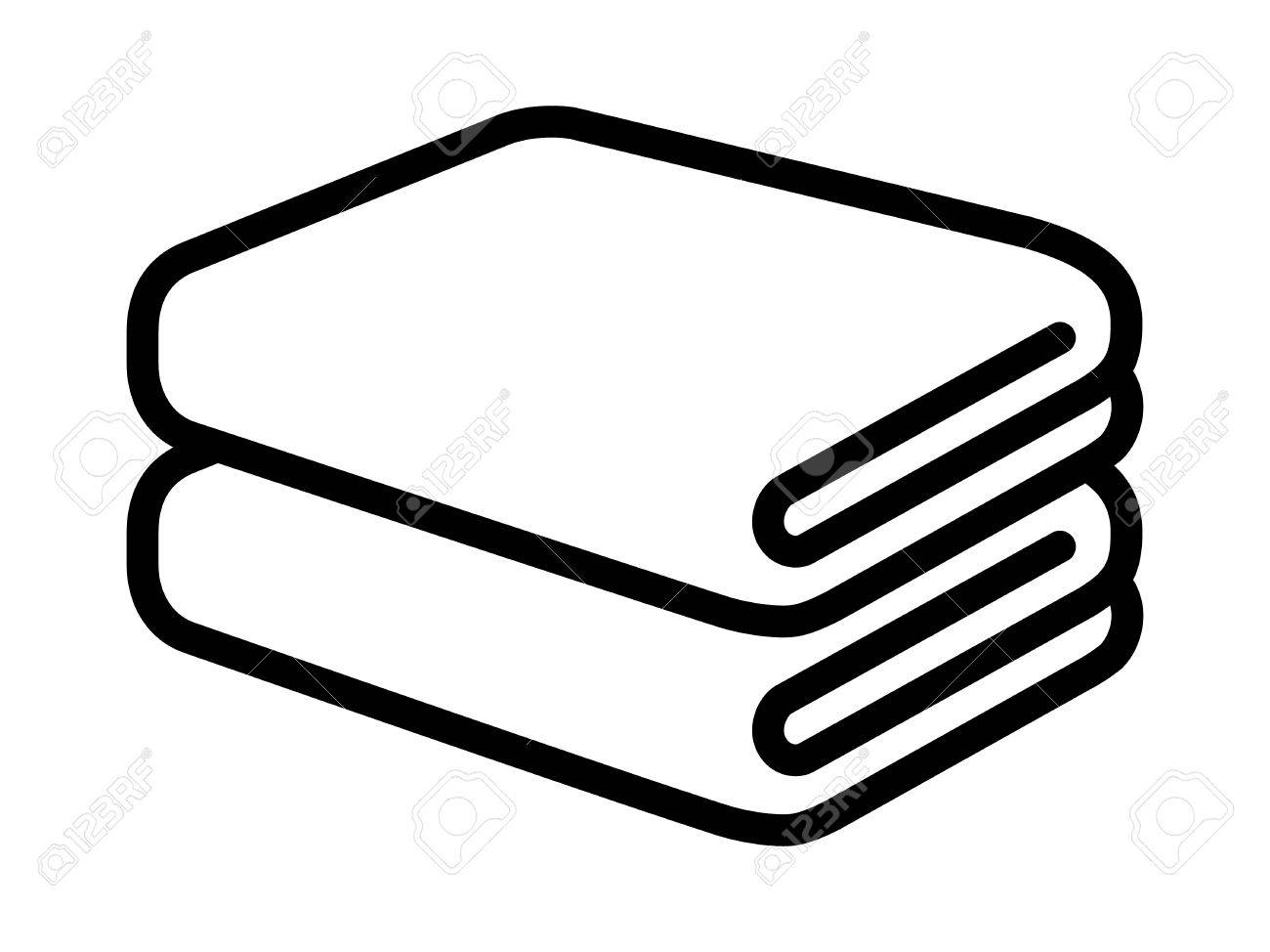 stack of folded bath towels or napkins line art for apps and rh 123rf com paper towel clip art towel pictures clip art