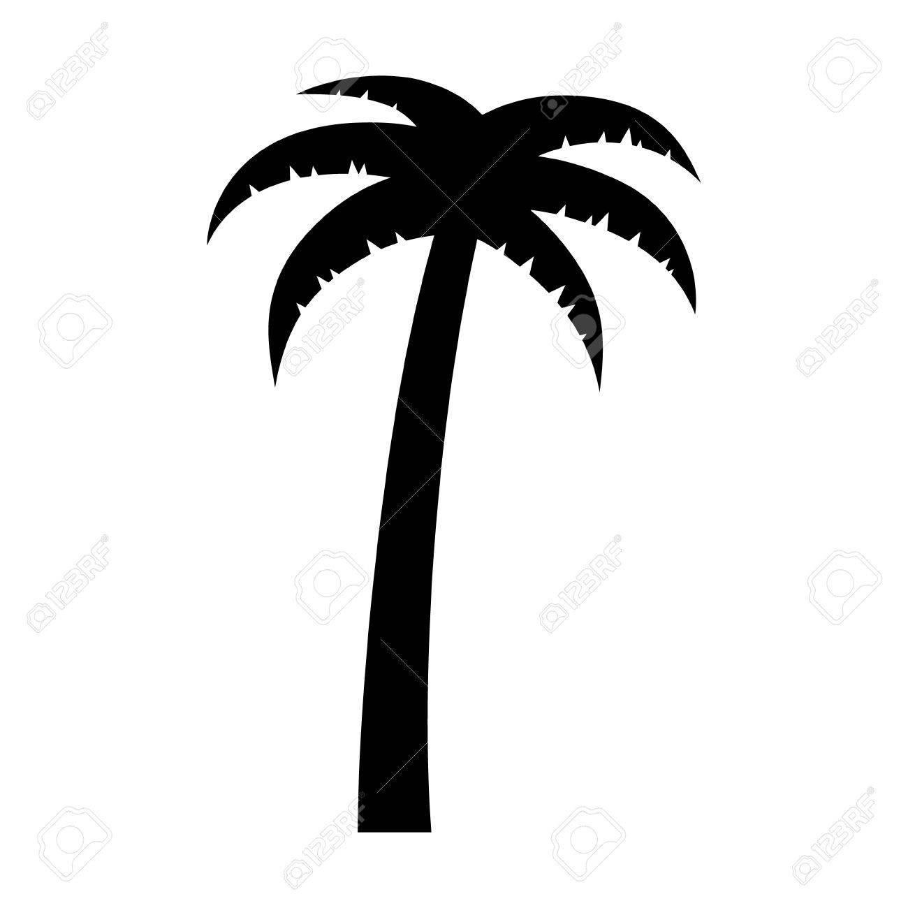 Palme Oder Kokosnussbaum Flach Symbol Für Urlaub Apps Und Websites ...