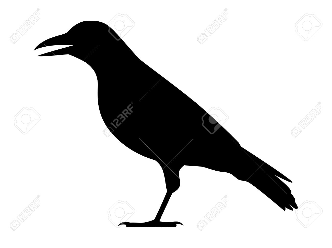 Crow raven jackdaw or corvus bird flat icon for apps and crow raven jackdaw or corvus bird flat icon for apps and websites stock vector biocorpaavc