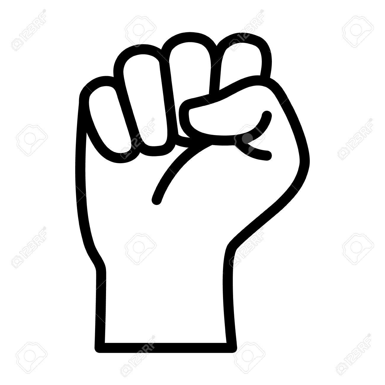 raised fist symbol of victory strength power and solidarity rh 123rf com fast clip art fist clip art free