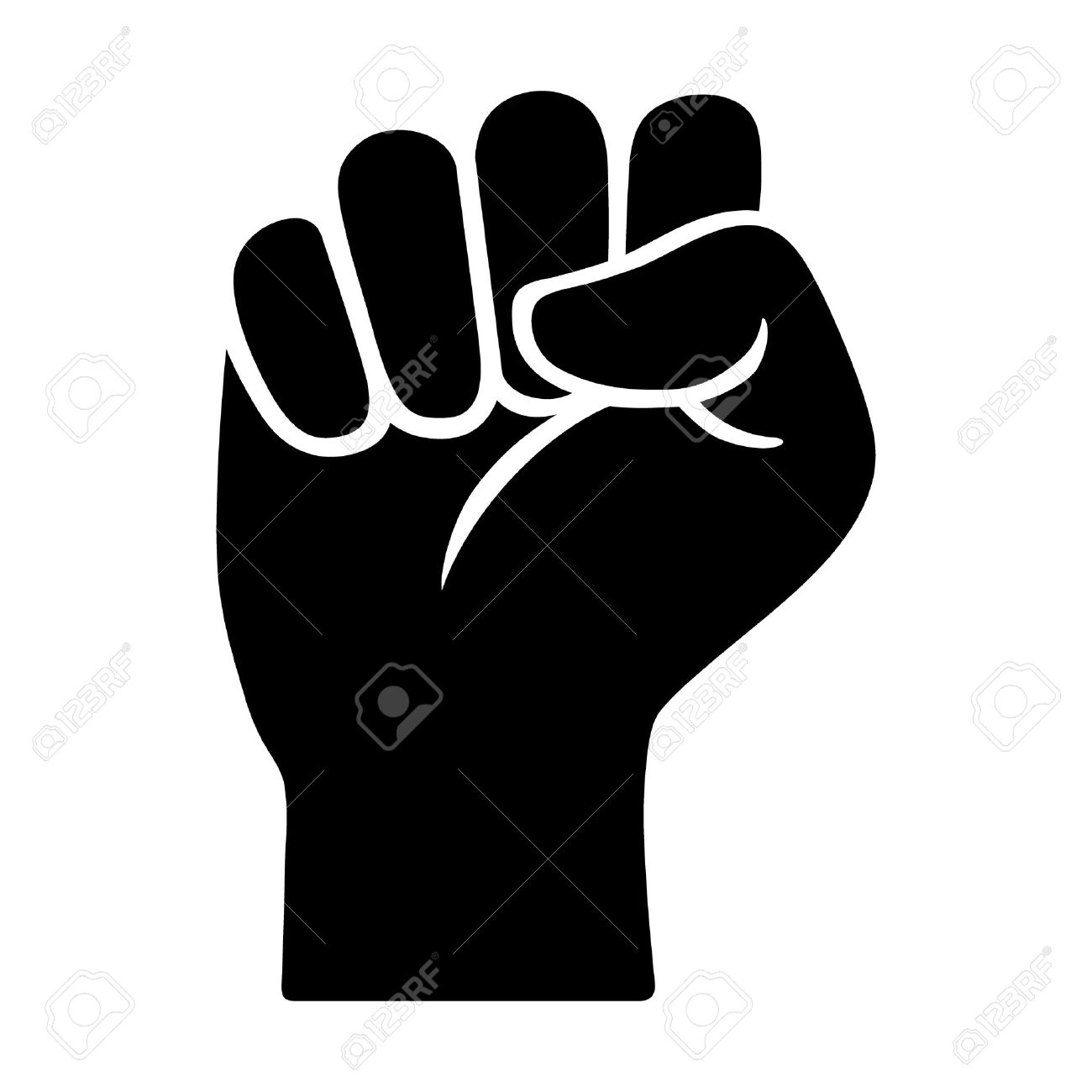 Raised Fist Symbol Of Victory Strength Power And Solidarity