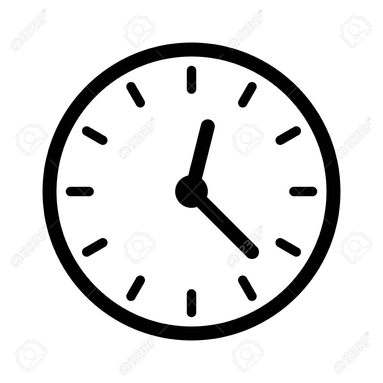 Clock Face Clockface Or Watch Face With Hands Line Art Icon