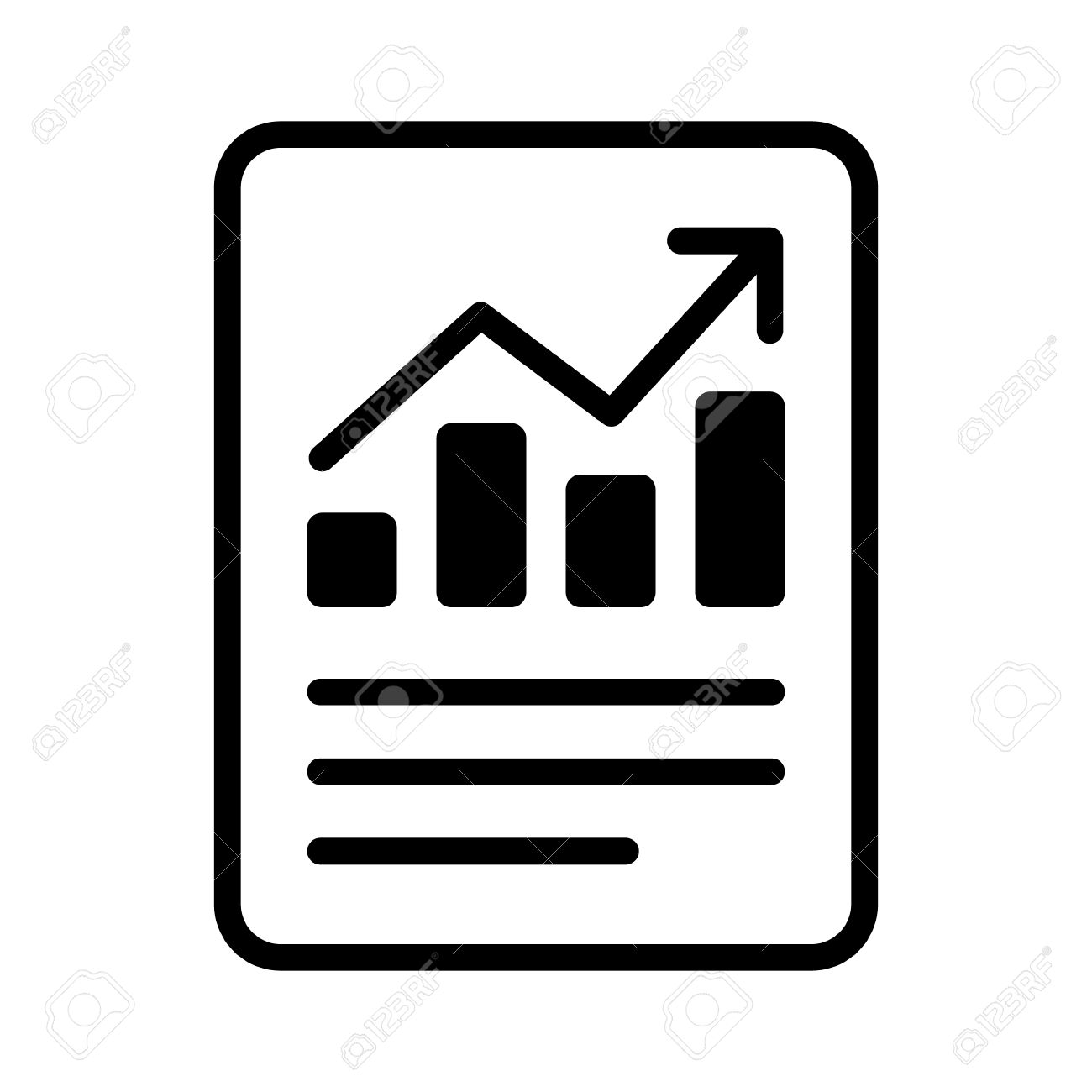 financial report or income statement line art icon for apps and rh 123rf com report clipart images report clipart free