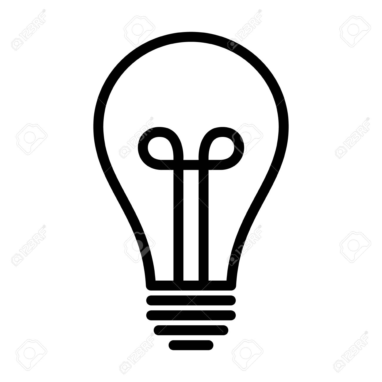 Vintage Light Bulb Lightbulb Turned Off Or Idea Line Art Icon For Apps And Websites