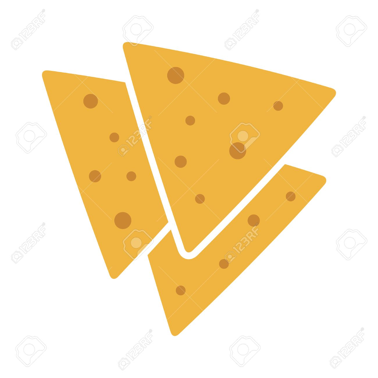 tortilla chips or nachos tortillas flat color icon for apps and rh 123rf com Cartoon Nachos Nachos Clip Art Black and White
