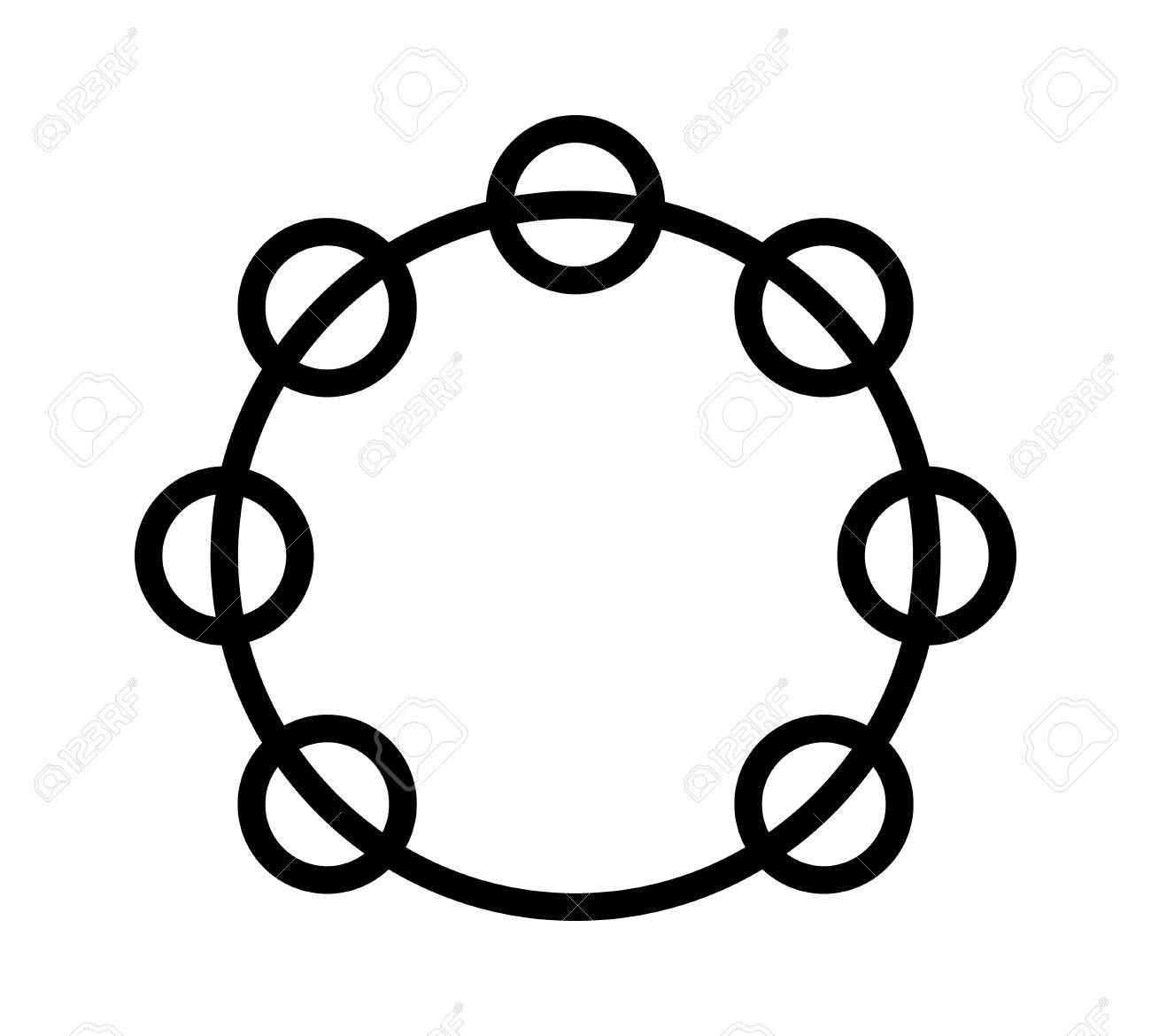 Headless Royalty Free Stock Music >> Headless Tambourine Musical Instrument Line Art Icon For Music