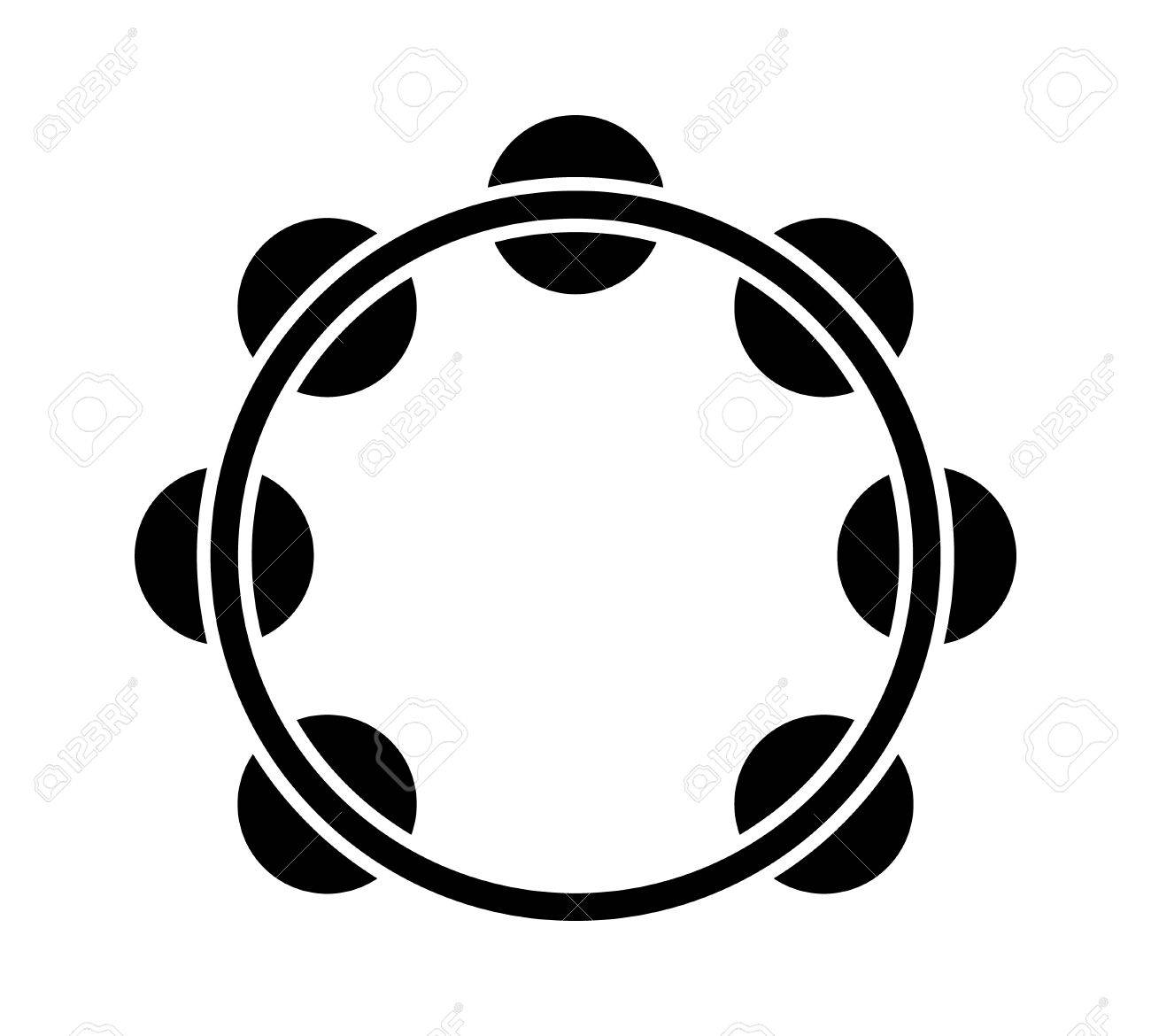 Headless Royalty Free Stock Music  >> Headless Tambourine Musical Instrument Flat Icon For Music Apps