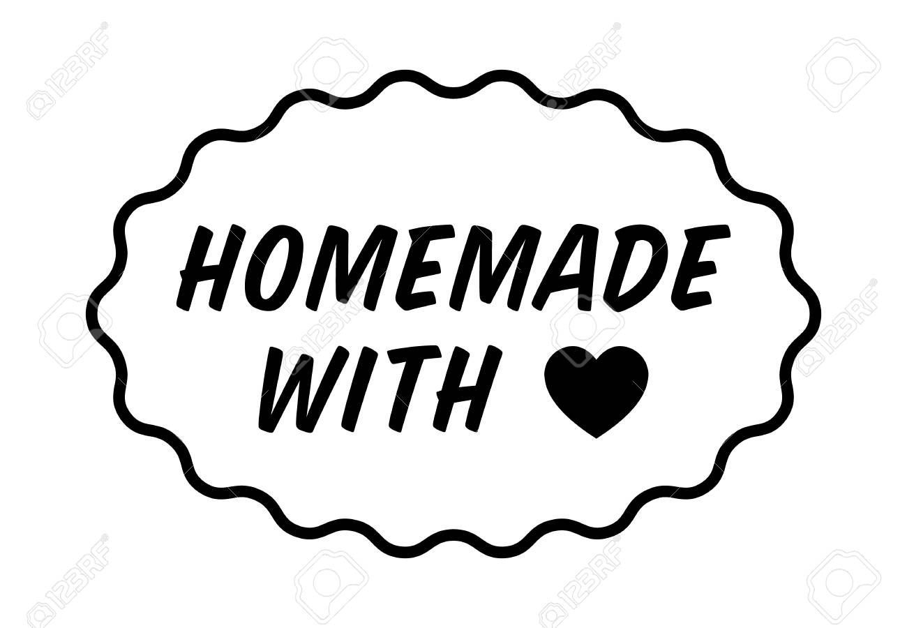 Homemade Or Home Made With Love Heart Label Badge Seal Or Royalty Free Cliparts Vectors And Stock Illustration Image 69495461
