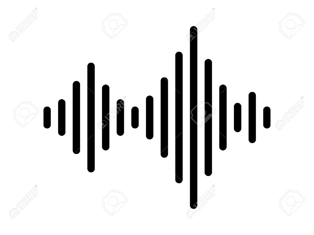 sound audio wave or soundwave line art vector icon for music rh 123rf com