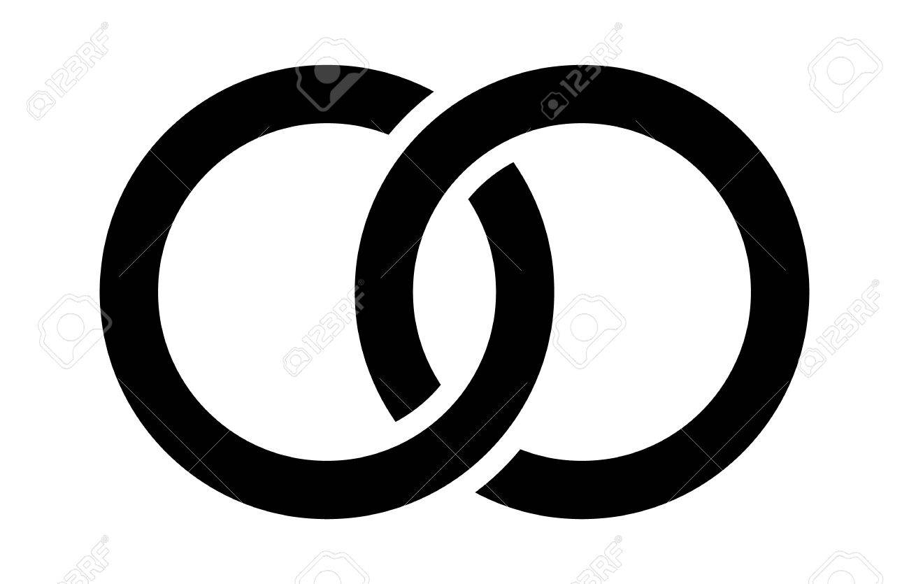 img ring symbols wedding symbol entwined image rings watermarked black large accent