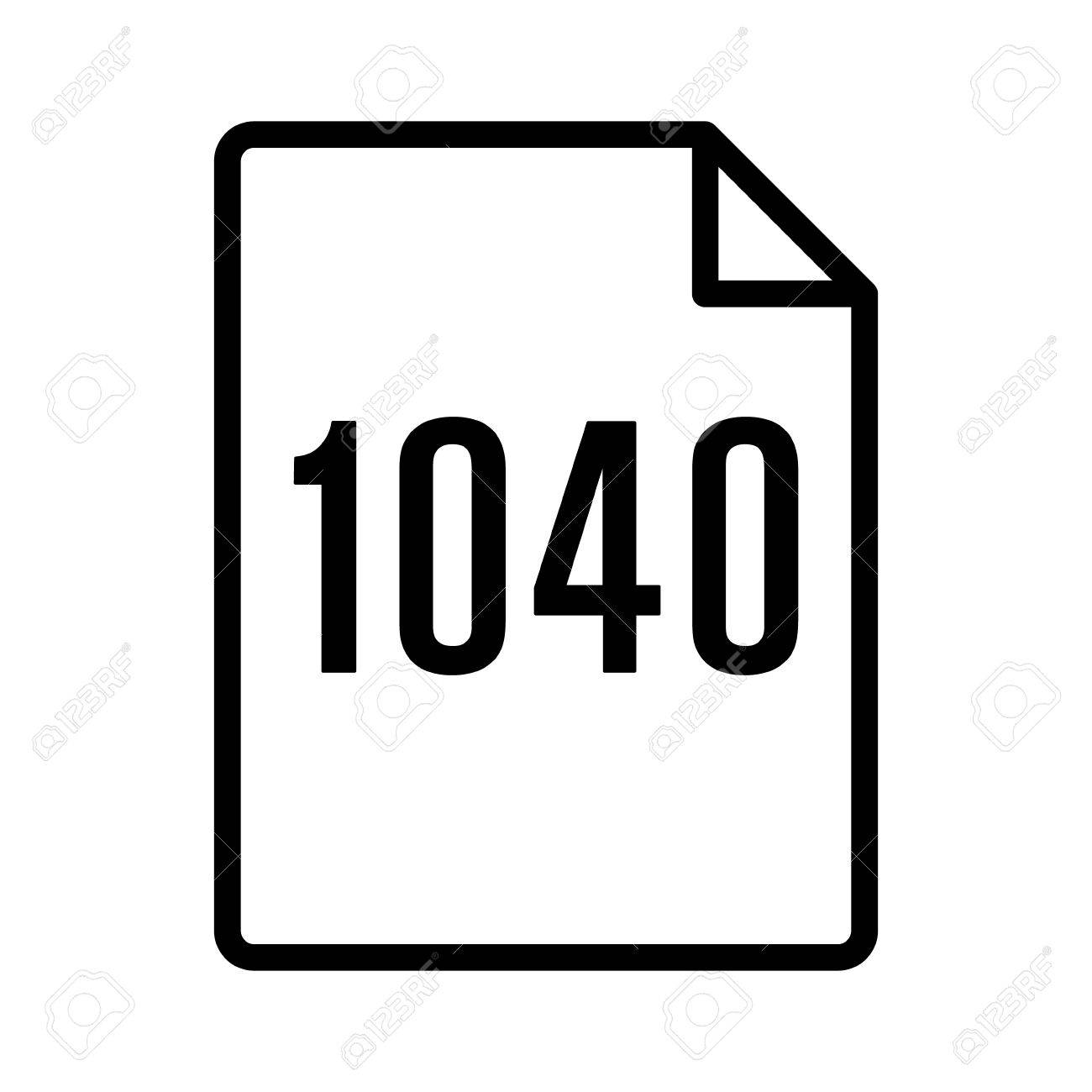 1040 irs tax form document line art vector icon for finance apps 1040 irs tax form document line art vector icon for finance apps and websites stock vector falaconquin