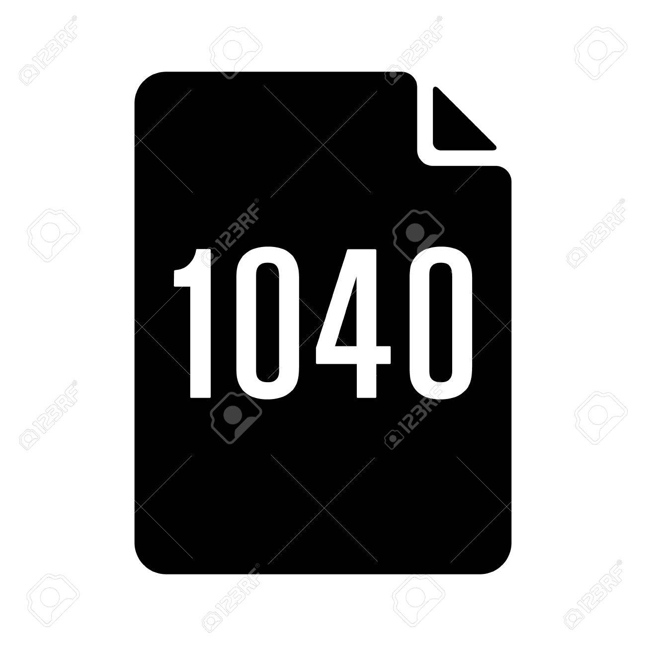 1040 irs tax form document flat vector icon for finance apps 1040 irs tax form document flat vector icon for finance apps and websites stock vector falaconquin