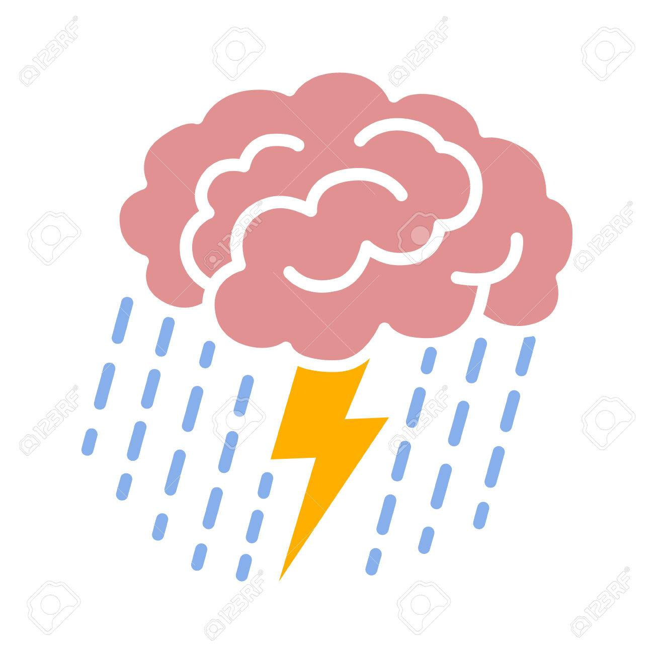 brain brainstorm brainstorming with lightning bolt and rain rh 123rf com brainstorming clipart brainstorming session clipart