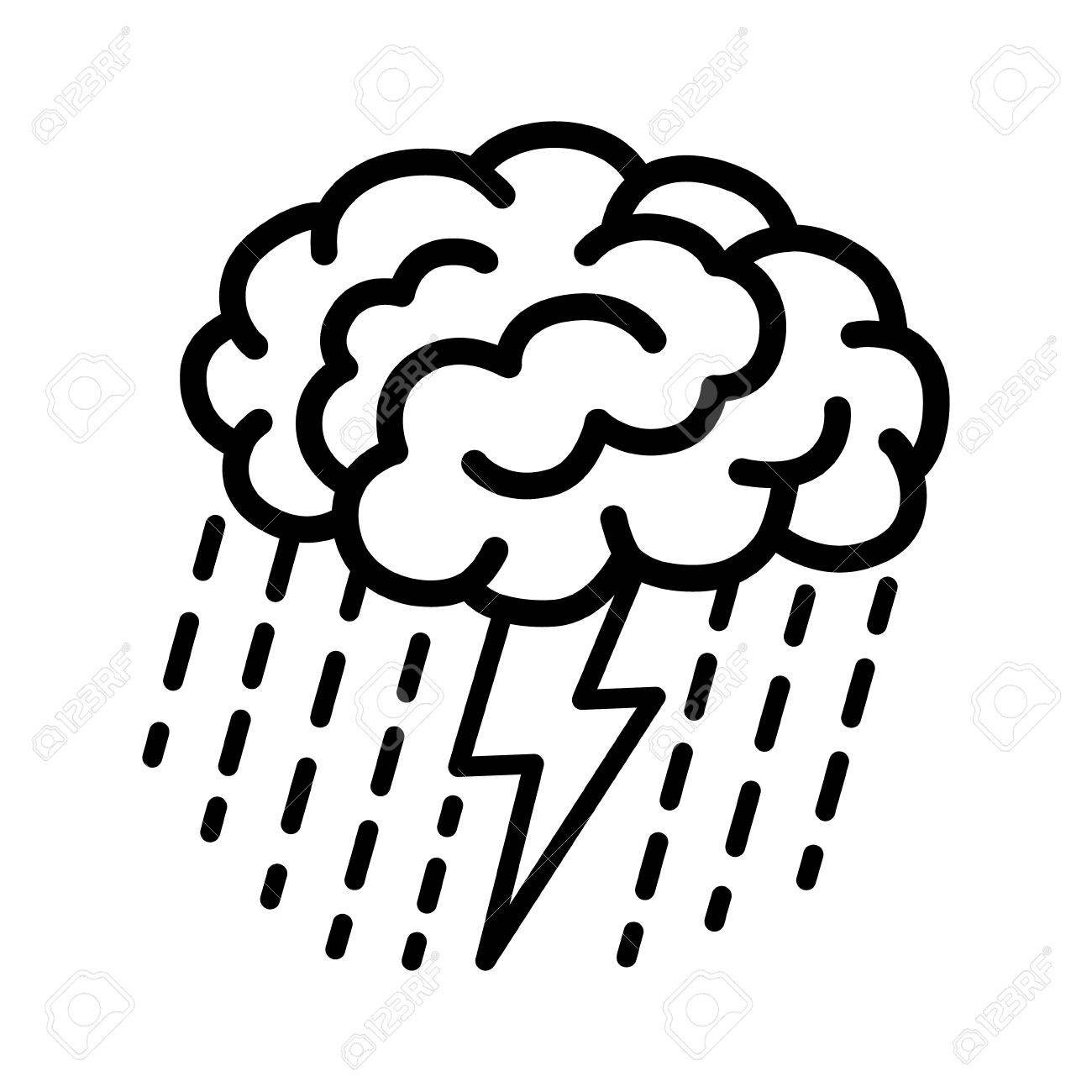 brain brainstorm brainstorming with lightning bolt and rain rh 123rf com Mastermind Clip Art brainstorming clipart