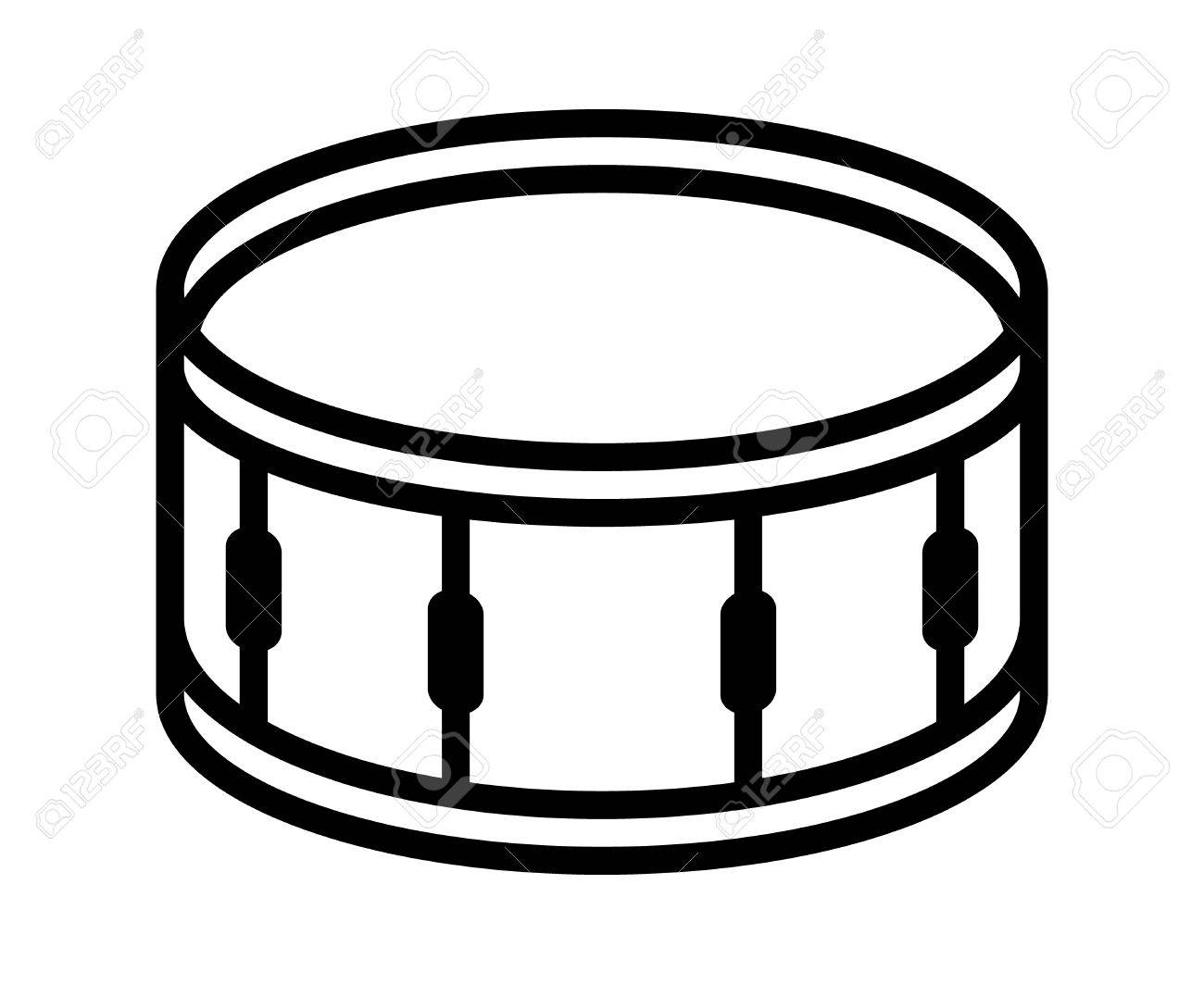 Snare Drum Or Side Musical Instrument Line Art Vector Icon For Music Apps And Websites