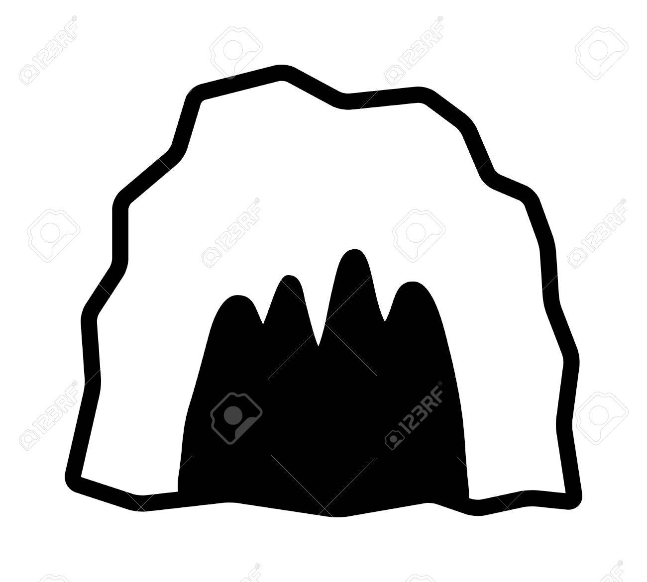 cave cavern animal den or dungeon line art vector icon for rh 123rf com cave clipart download cave clipart outline