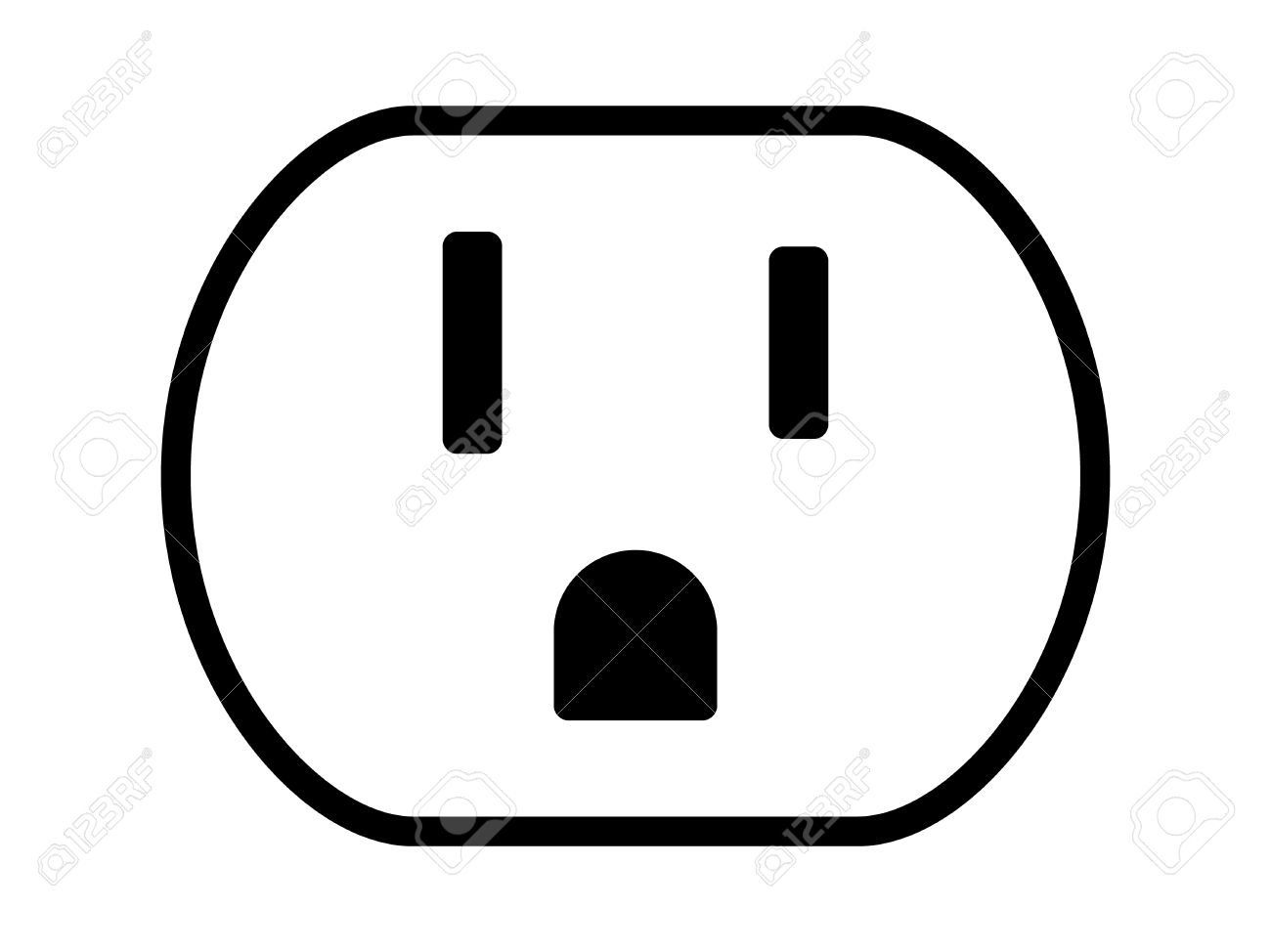 Nema 5 15 grounded power outlet ac socket line art vector icon nema 5 15 grounded power outlet ac socket line art vector icon for apps biocorpaavc Choice Image