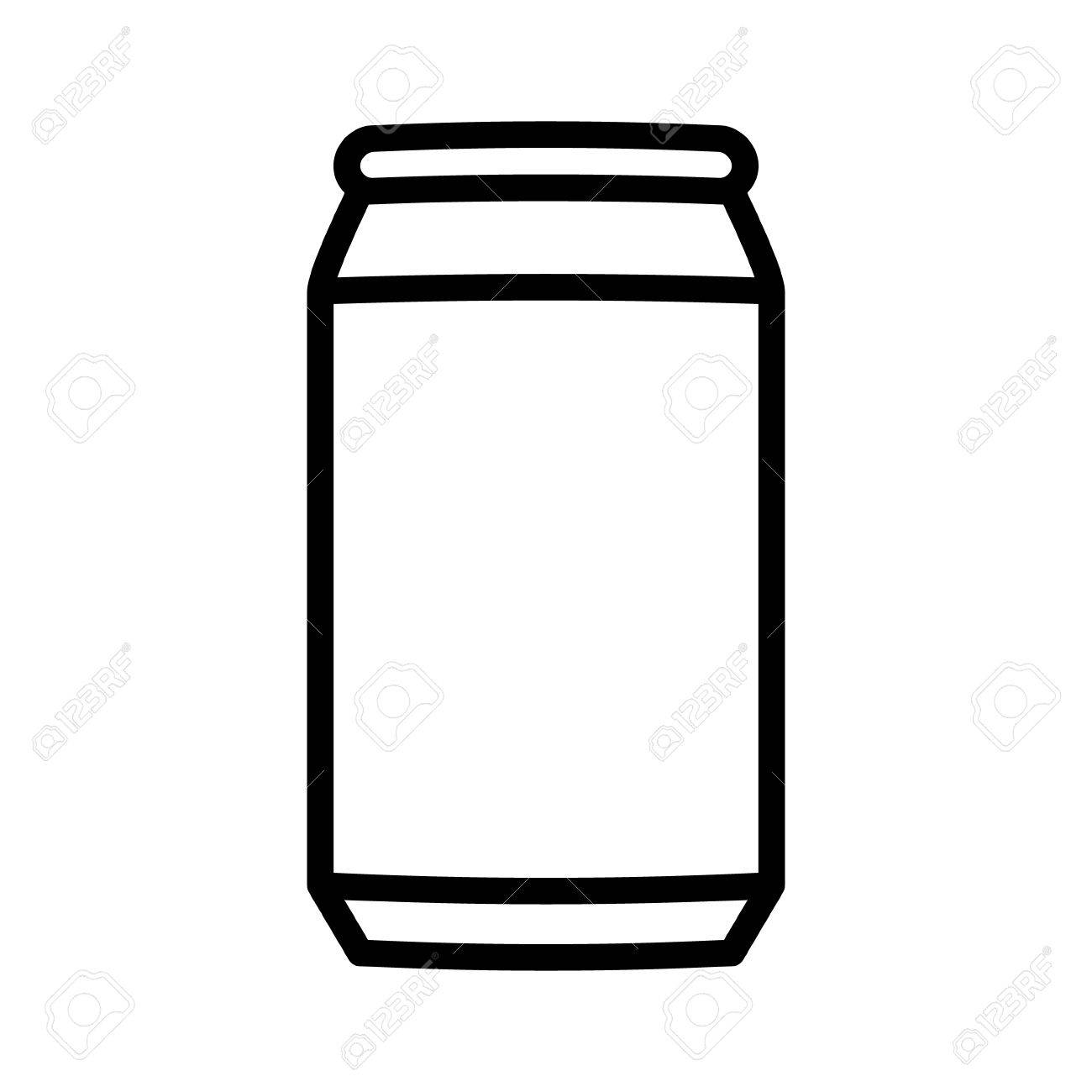 aluminum soda or beer can line art vector icon for apps and websites rh 123rf com blank beer can vector beer can vector image