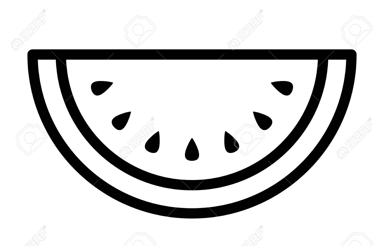 Watermelon Line Art Images