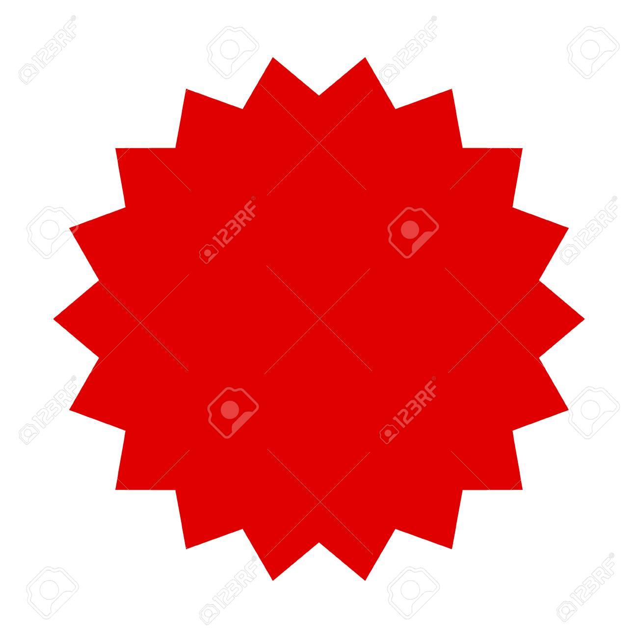 red starburst burst badge seal or label flat vector icon for rh 123rf com starburst vector swabbing starburst vector art free