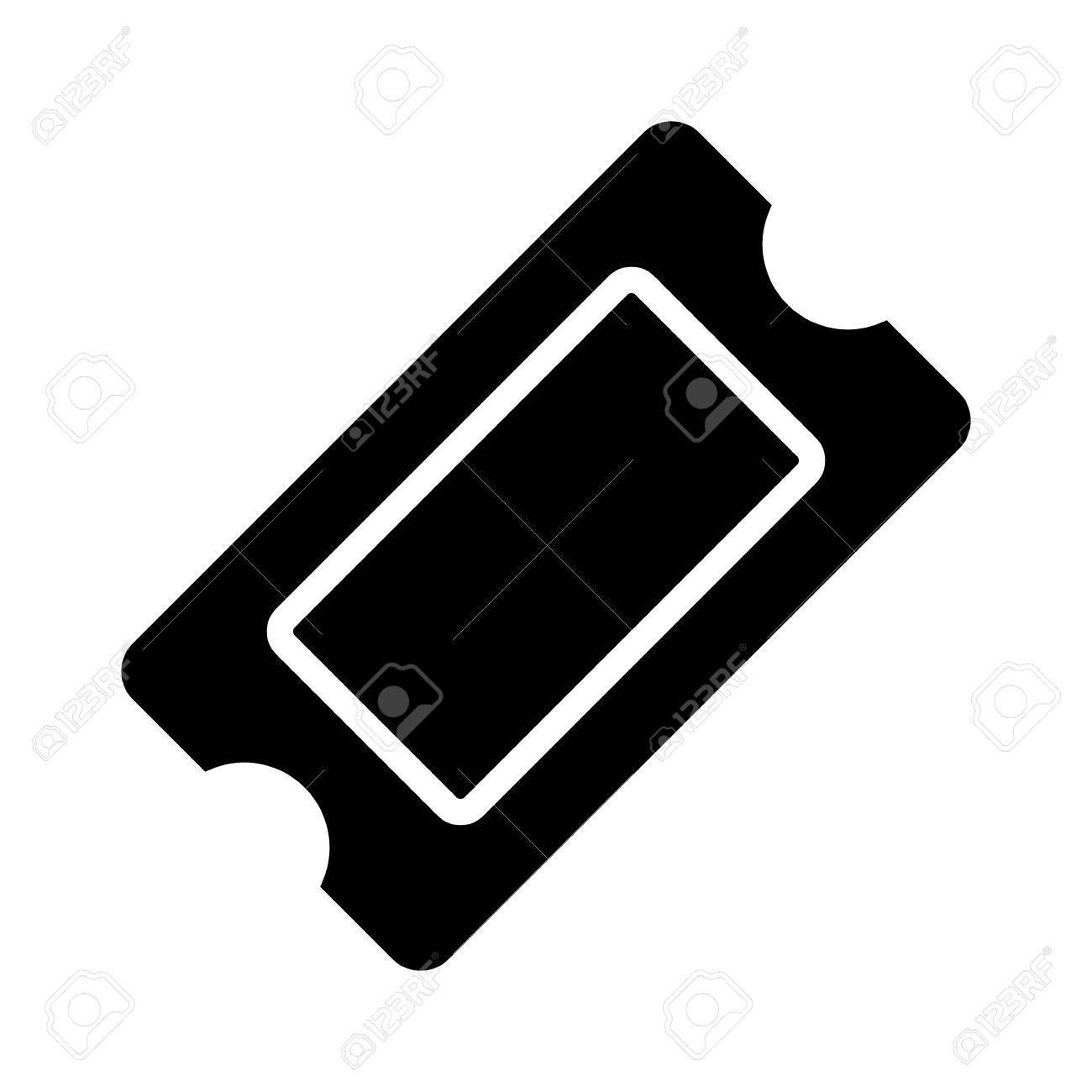 Filmticket Eintritts-Stub Oder Gewinnspiel-Token Flach Vektor-Symbol ...