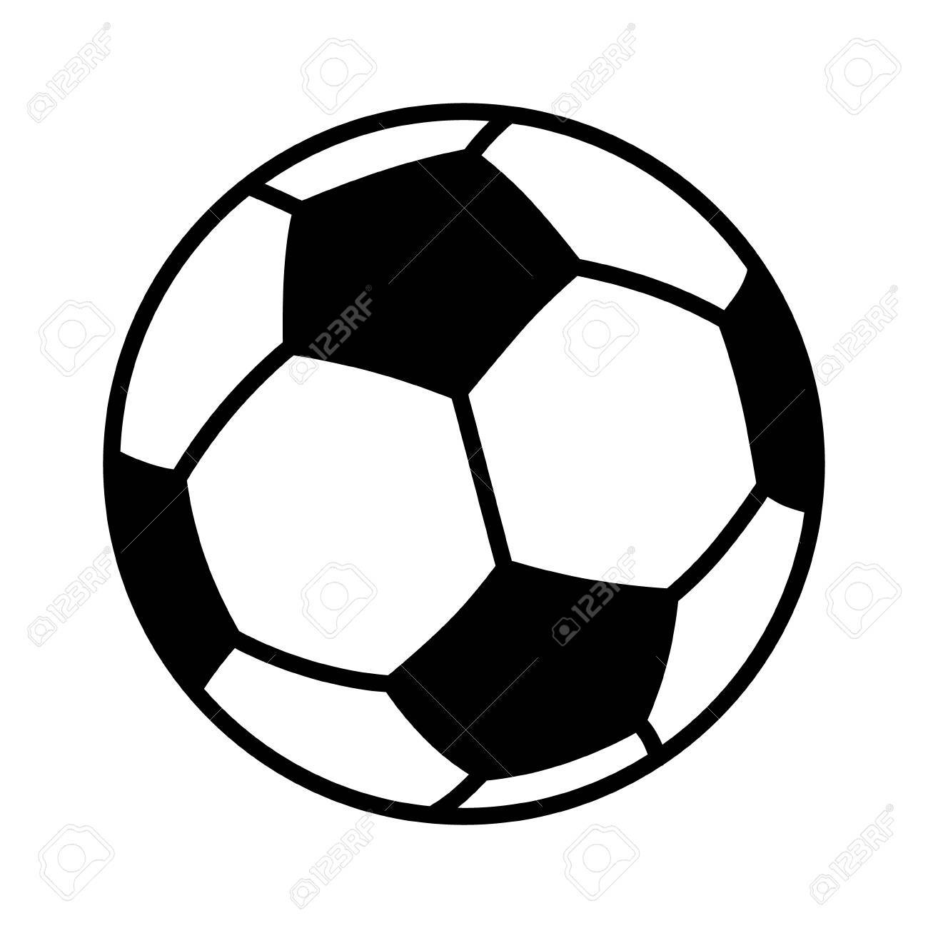 Soccer Ball Or Football Flat Vector Icon For Sports Apps And