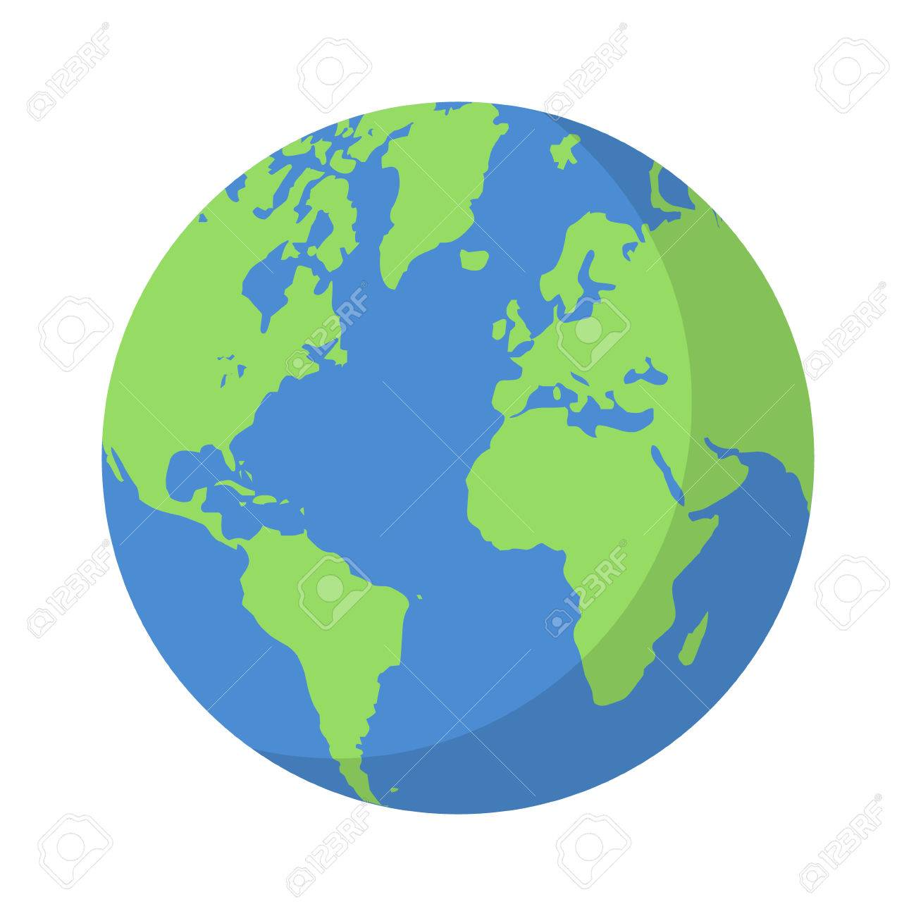 planet earth or world globe with oceans and water flat vector rh 123rf com planet earth clipart free planet earth clipart
