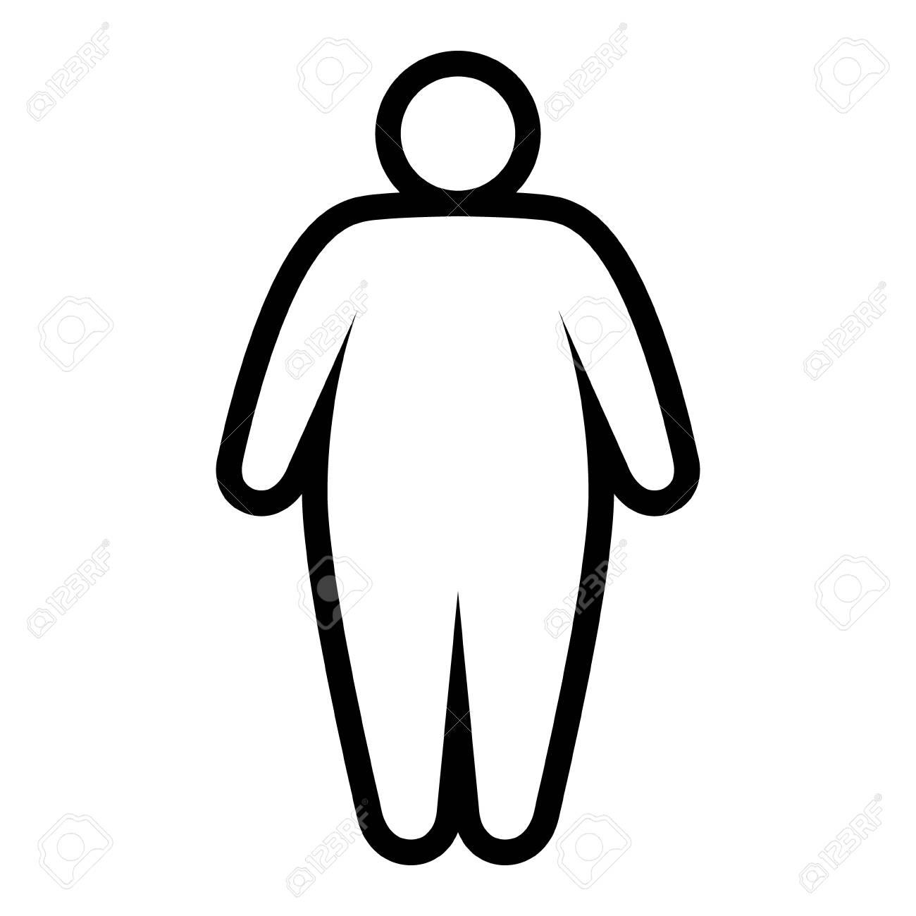 arte di testo uomo grasso
